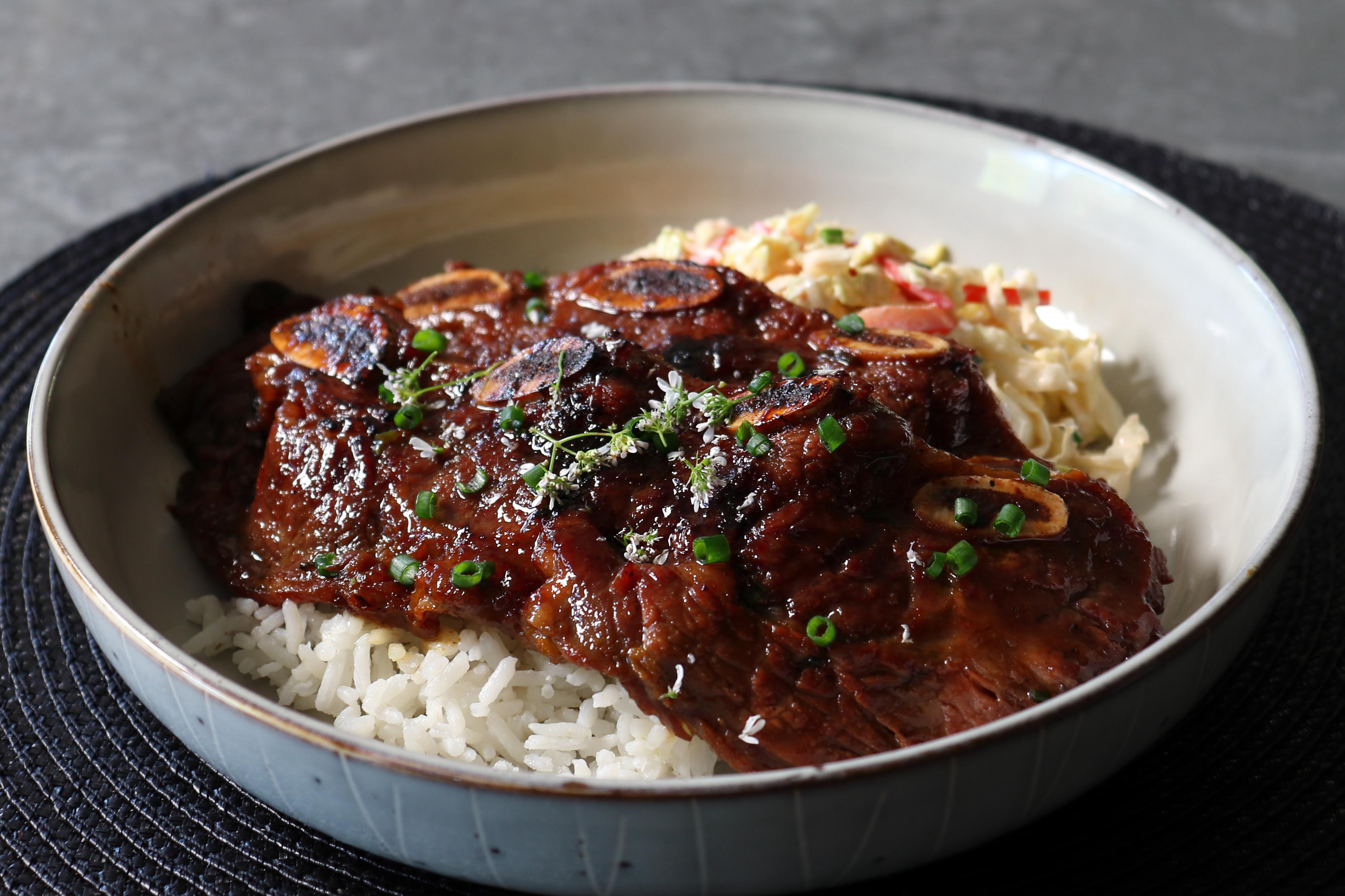 Korean Barbecue Short Ribs Teriyaki