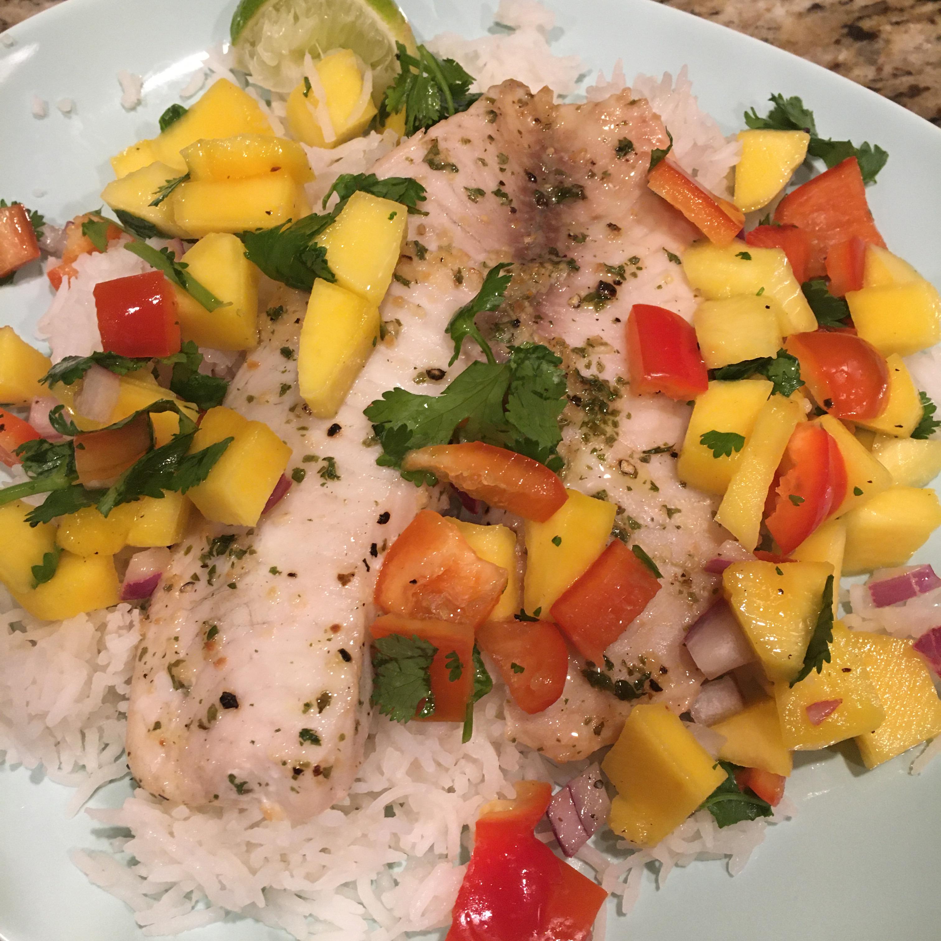 Grilled Tilapia with Mango Salsa kak584