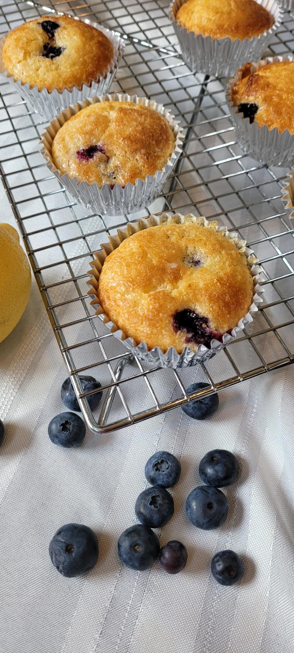 Lemon-Glazed Blueberry Cupcakes