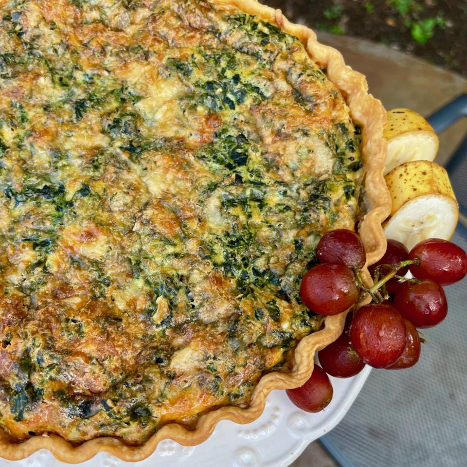 Potato, Spinach, and Cheese Quiche