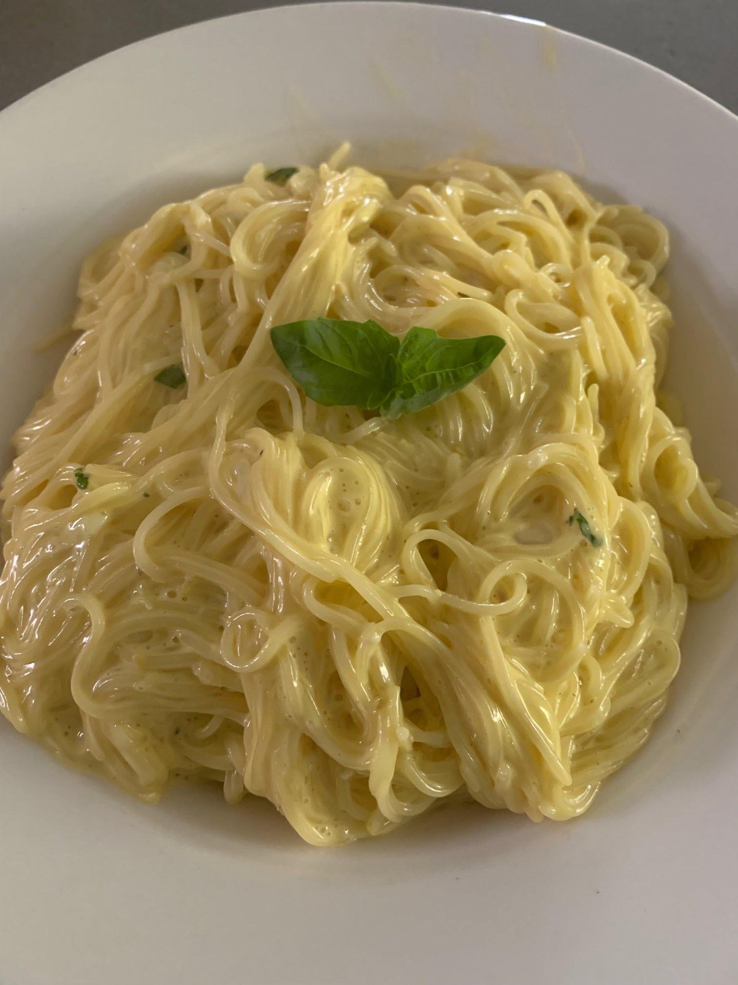 Vermicelli with Lemon Cream Sauce