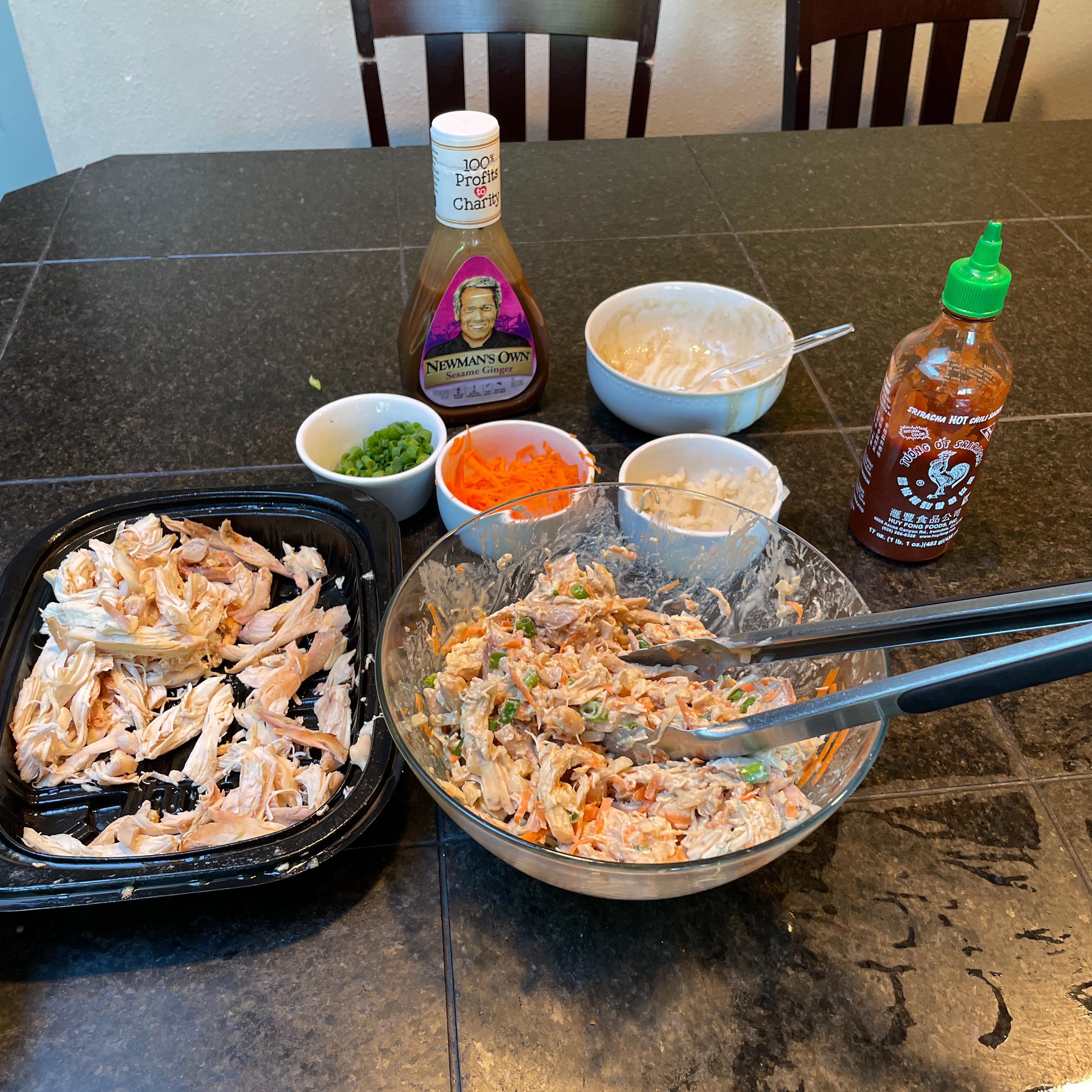 No-Cook Chicken Lettuce Wraps S L