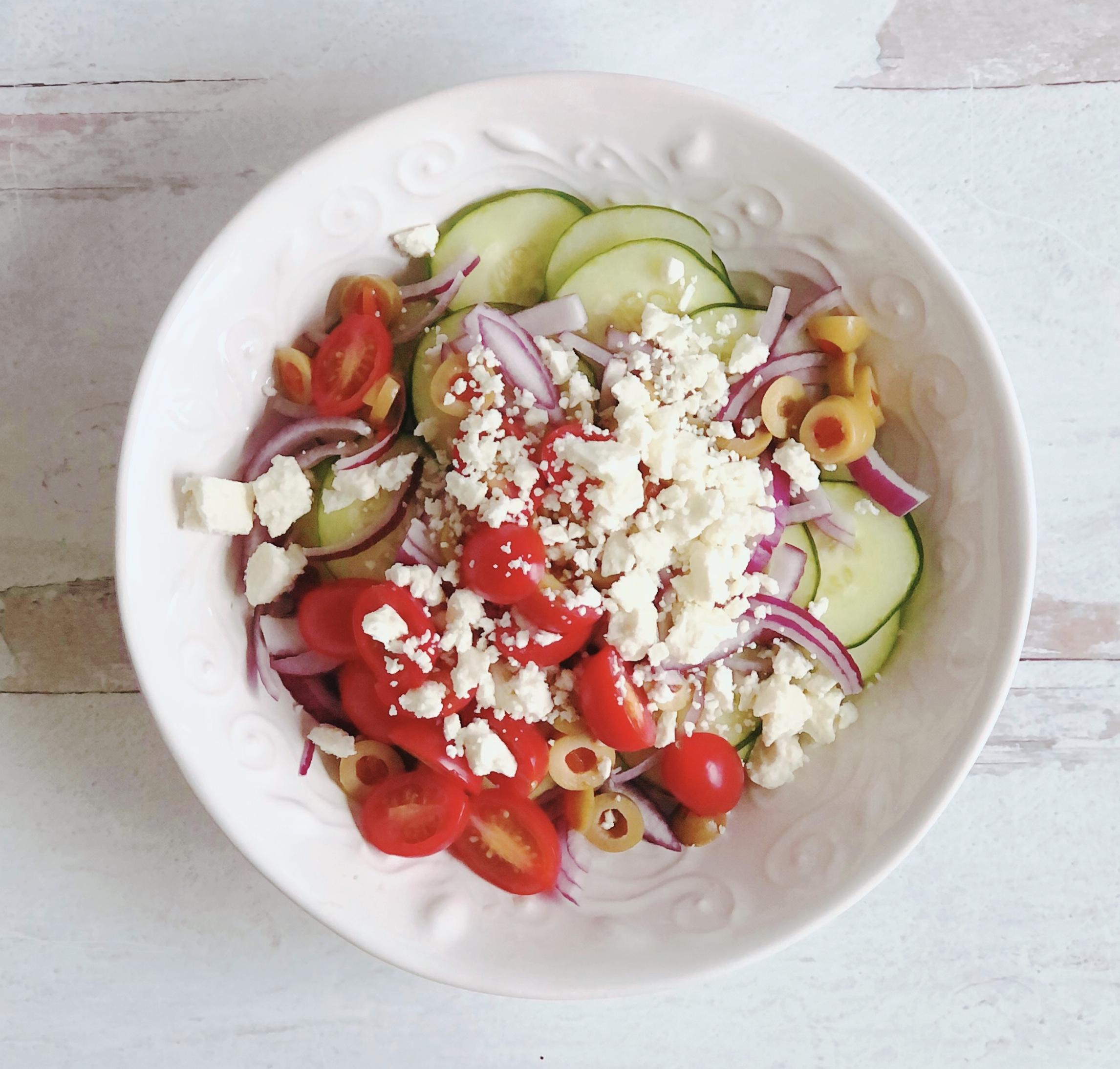 Standard Greek Salad The Sweet Cucina