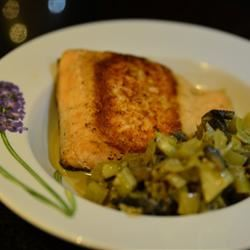 Seared Salmon with Indian-Inspired Cream Sauce Kim Ngo
