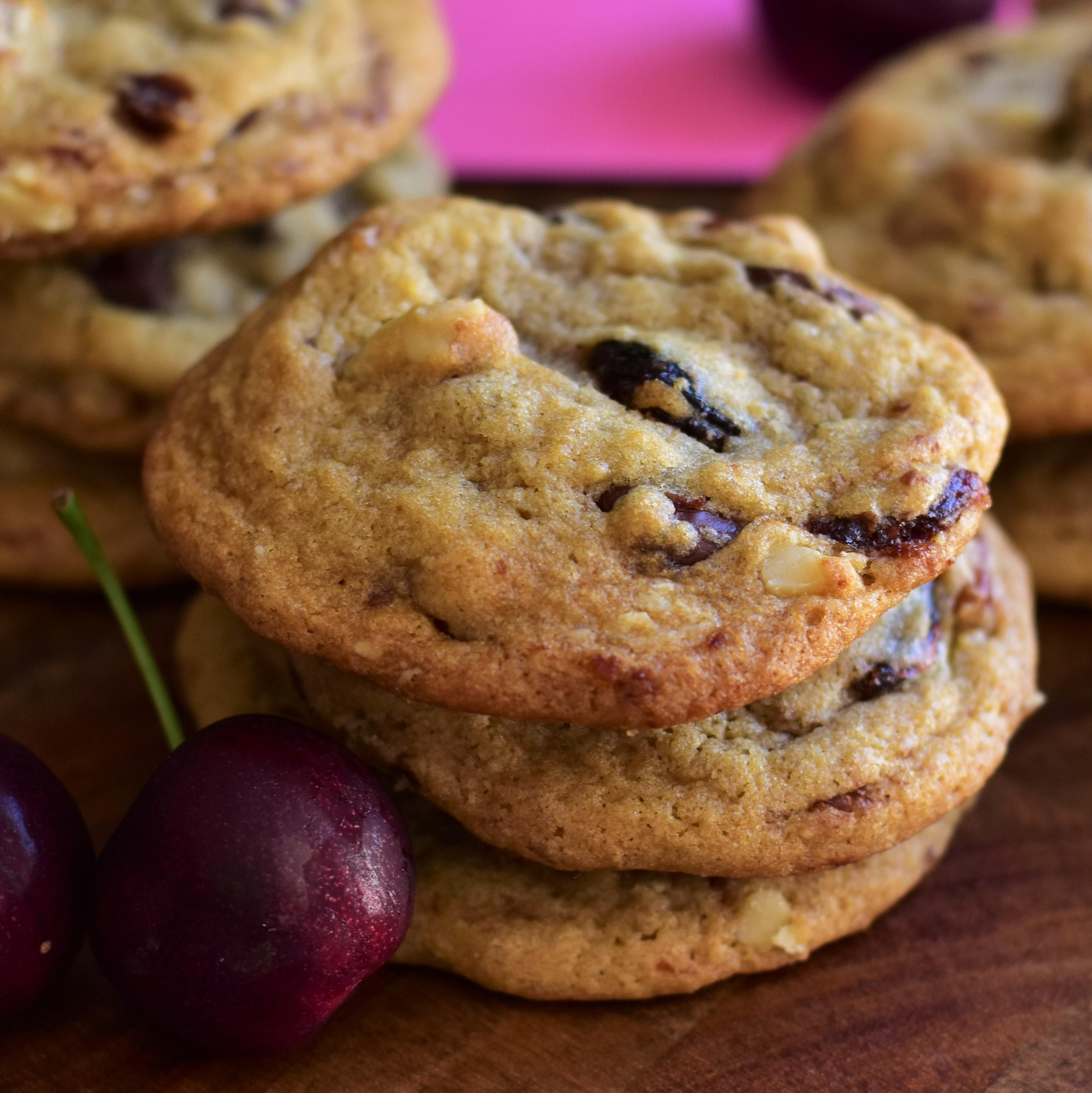 Cherry Chocolate Chunk Cookies Kim
