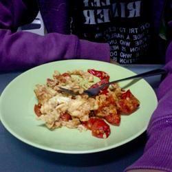 Scrambled Eggs and Tomatoes rivylikesbaking