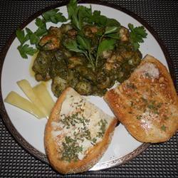 Gnocchi with Sweet Basil Pesto and Garlic Butter Shrimp