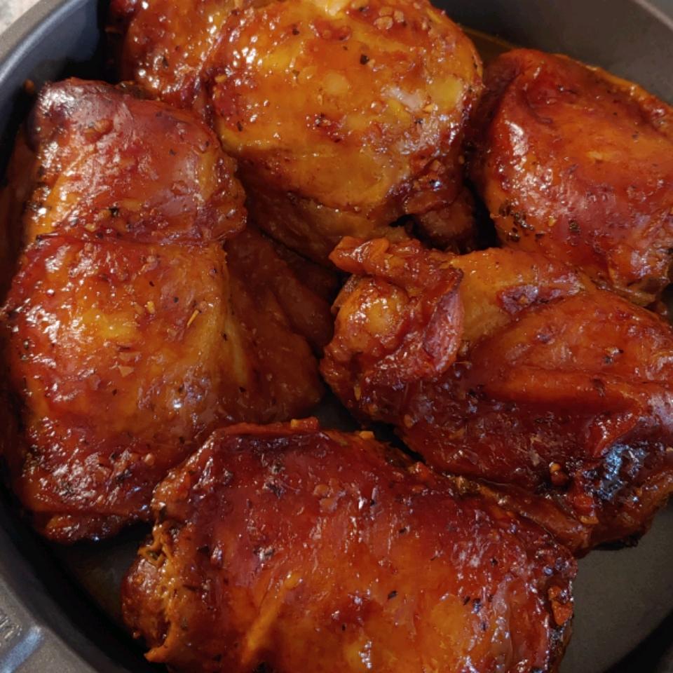 Honey-Garlic Slow Cooker Chicken Thighs