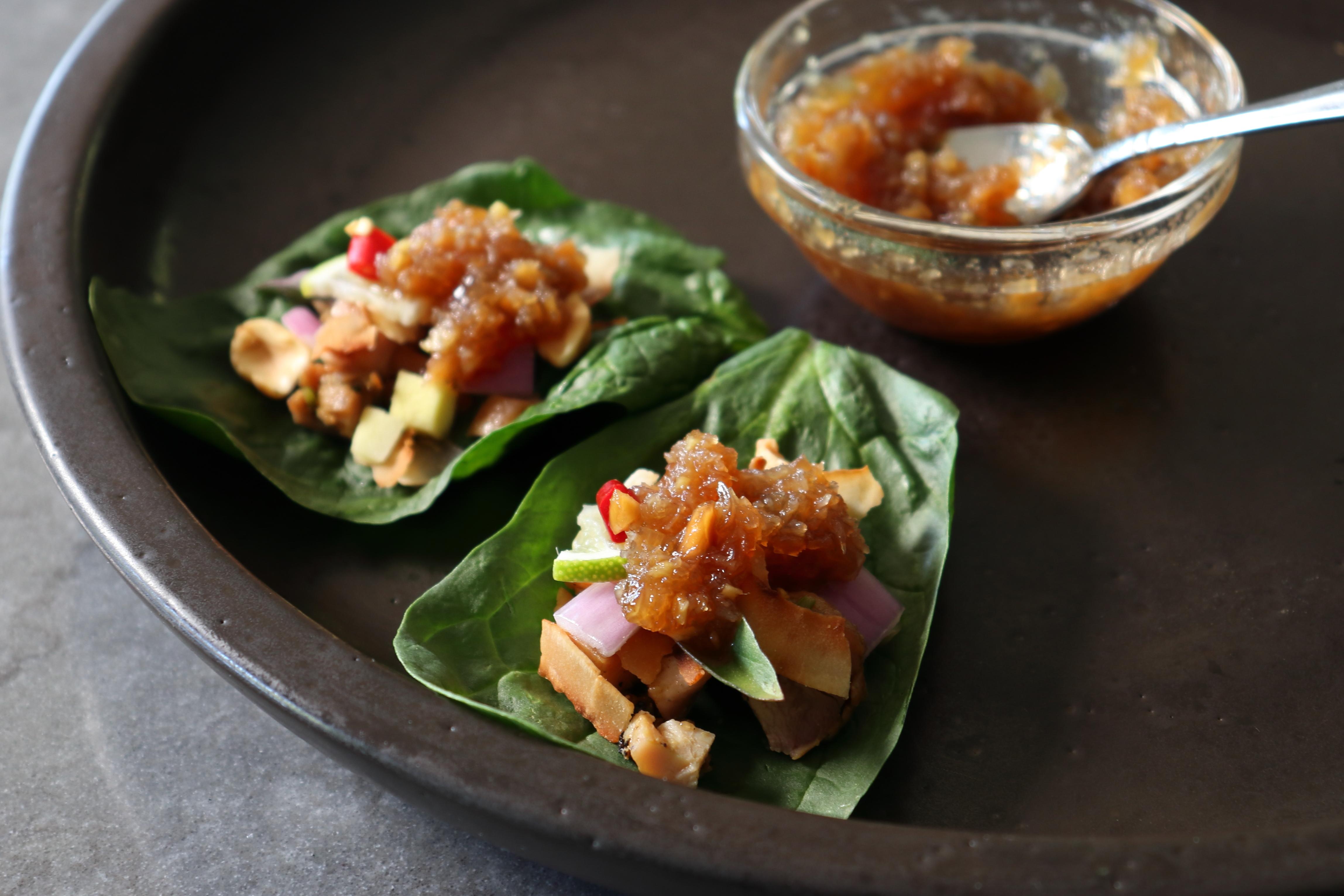 "One-Bite Thai ""Flavor Bomb"" Salad Wraps (Miang Kham) Chef John"