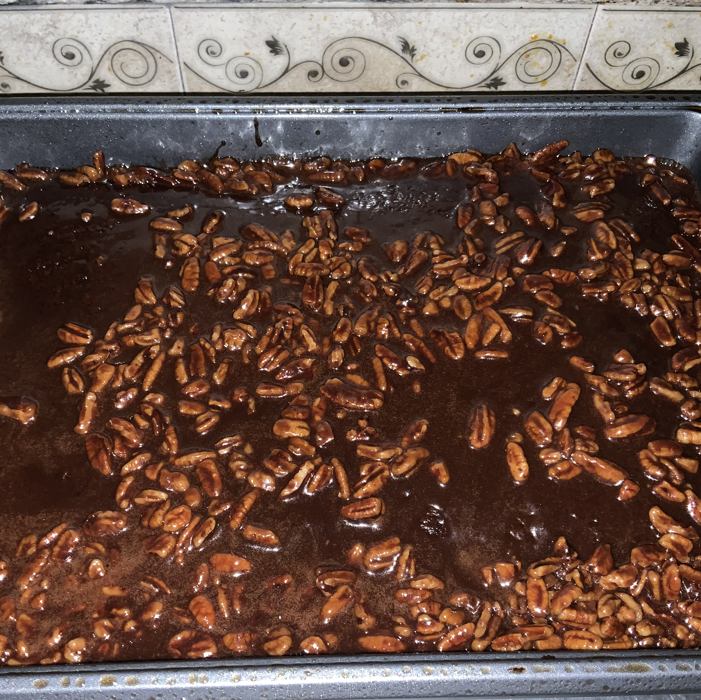 Old Southern Chocolate Pecan Sheet Cake Kendra Ware