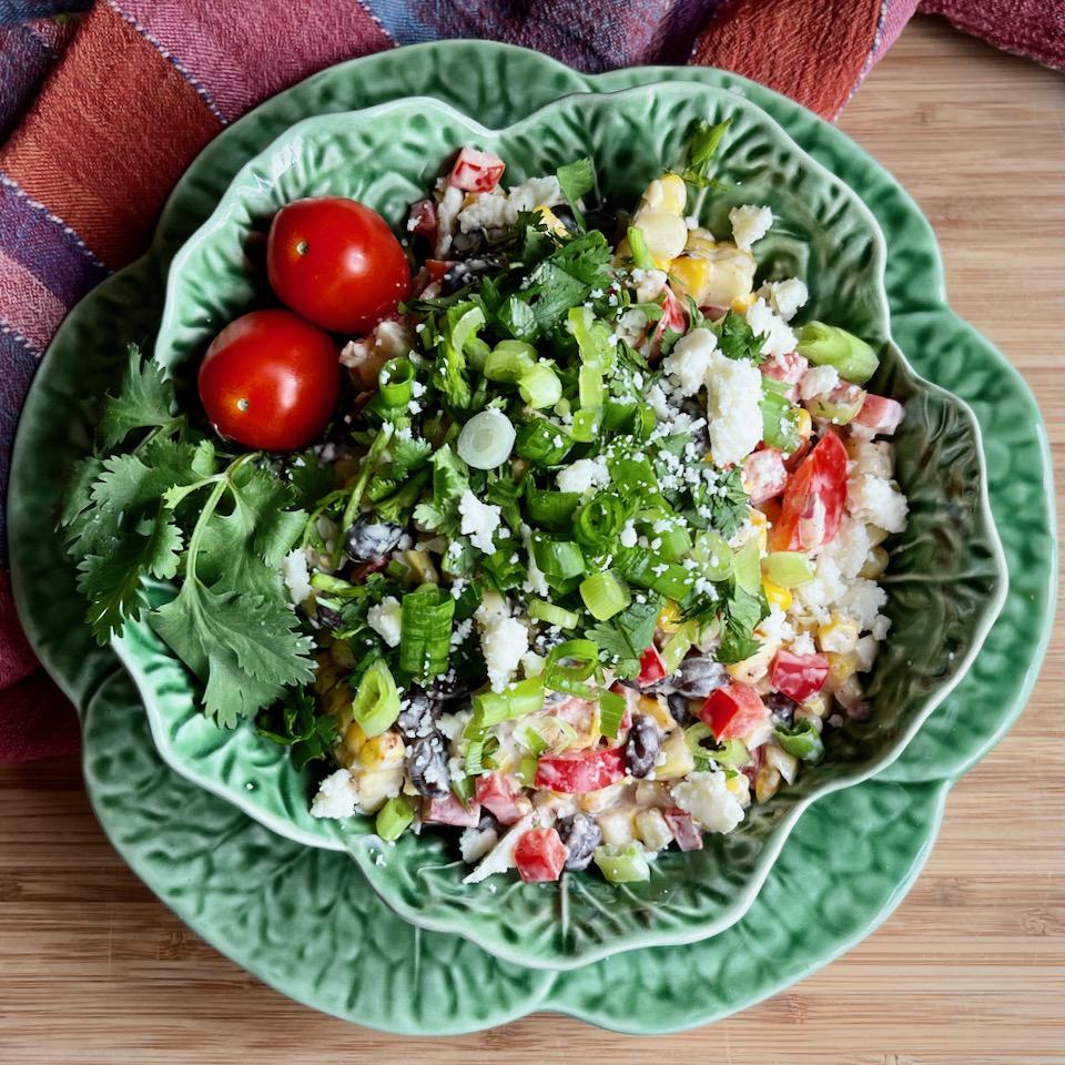 Roasted Mexican Corn Salad with Black Beans