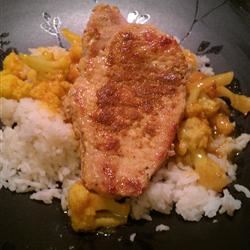 Curried Pork Chops and Cauliflower with Basmati Rice mkstevens09