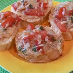 Crostini with Mozzarella and Tomato Scotdog