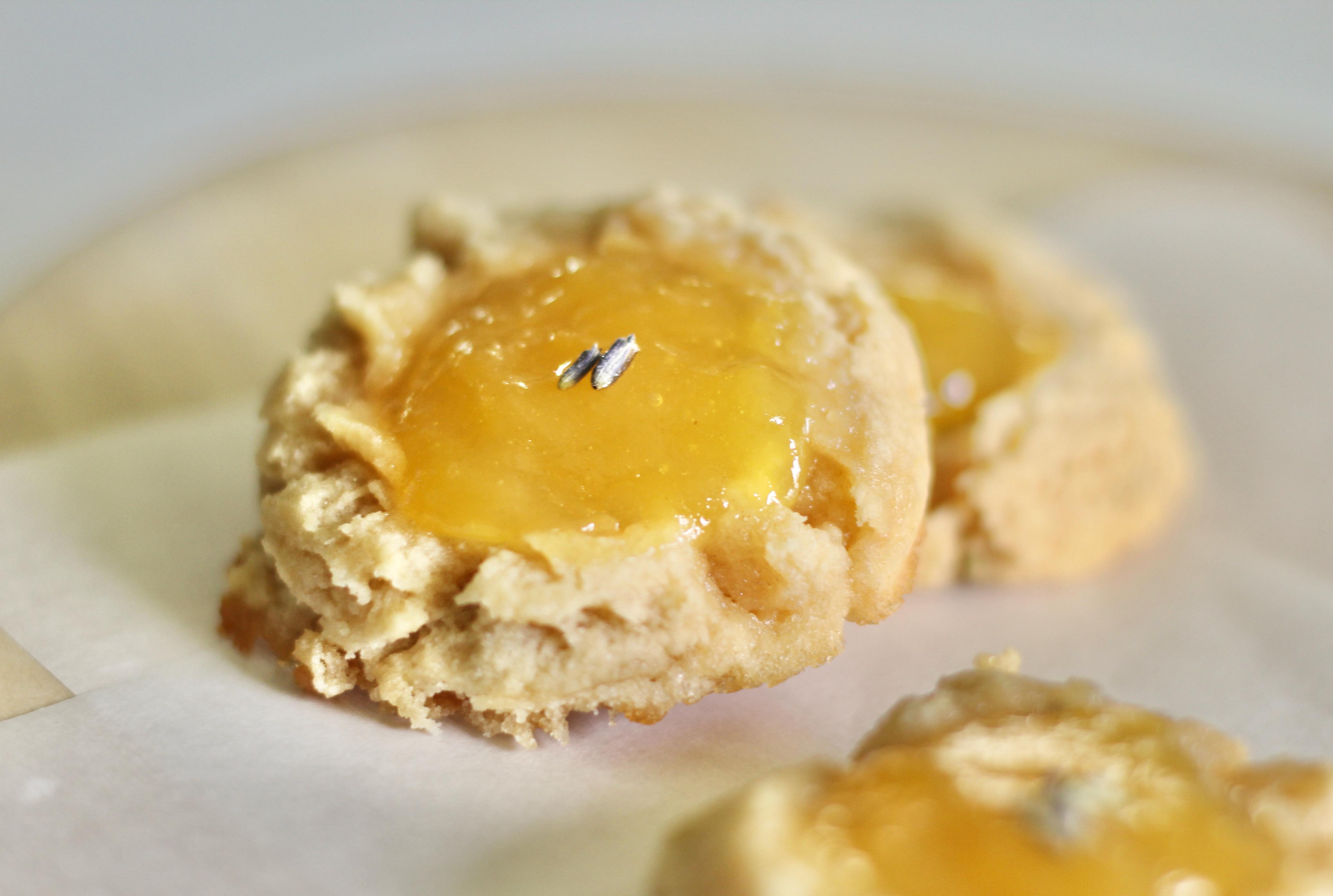 Lavender-Lemon Curd Thumbprint Cookies