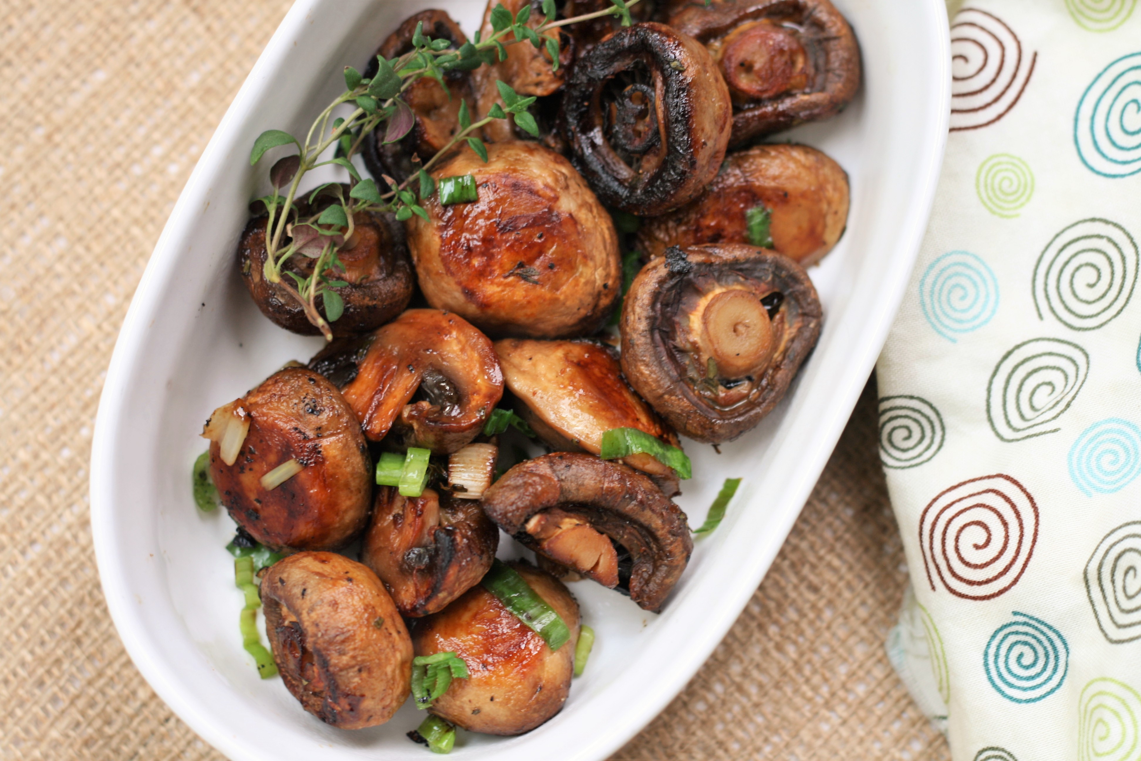 Balsamic-Thyme Roasted Mushrooms