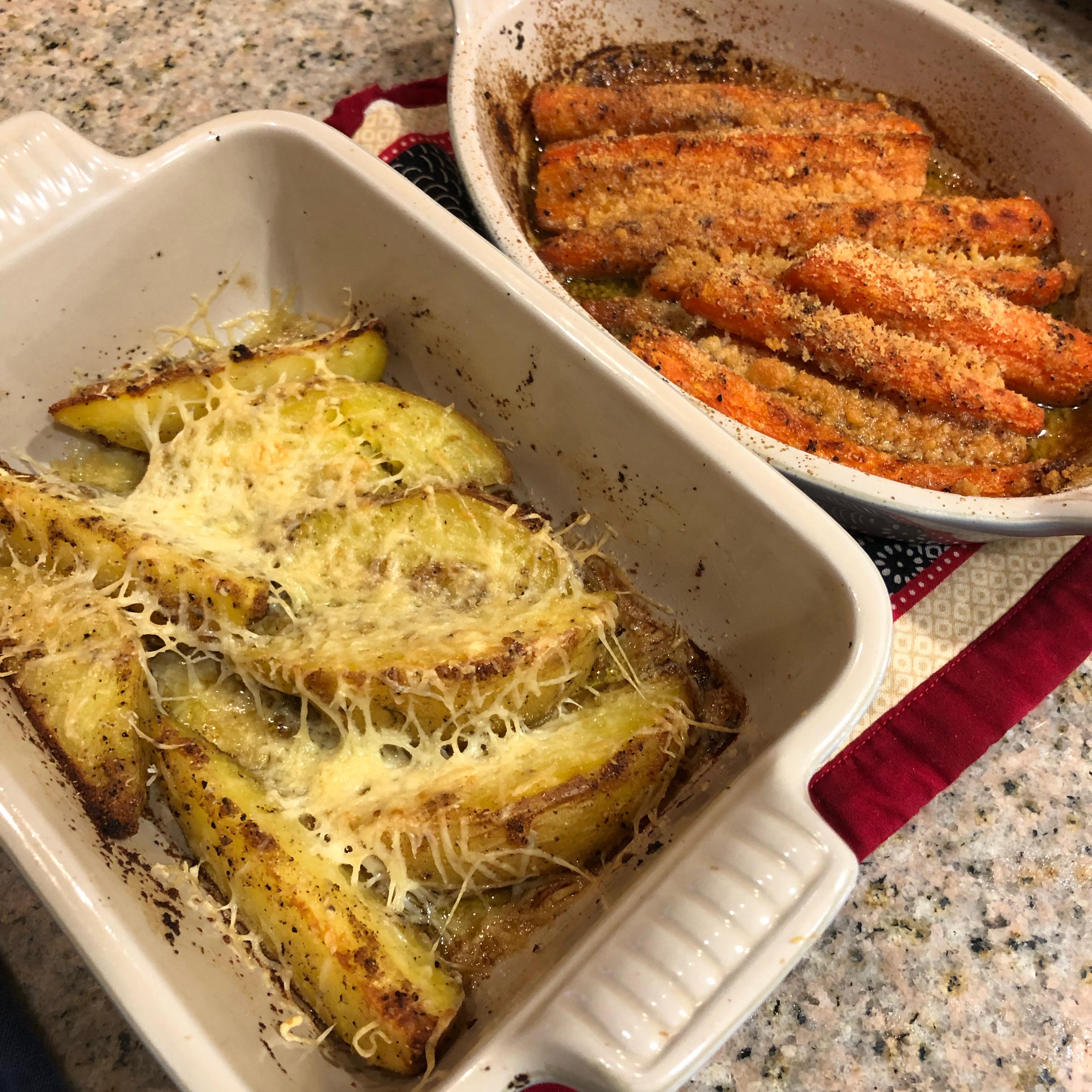 Roasted Parmesan-Garlic Carrots