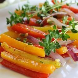 Caramelized Red Bell Peppers and Onions