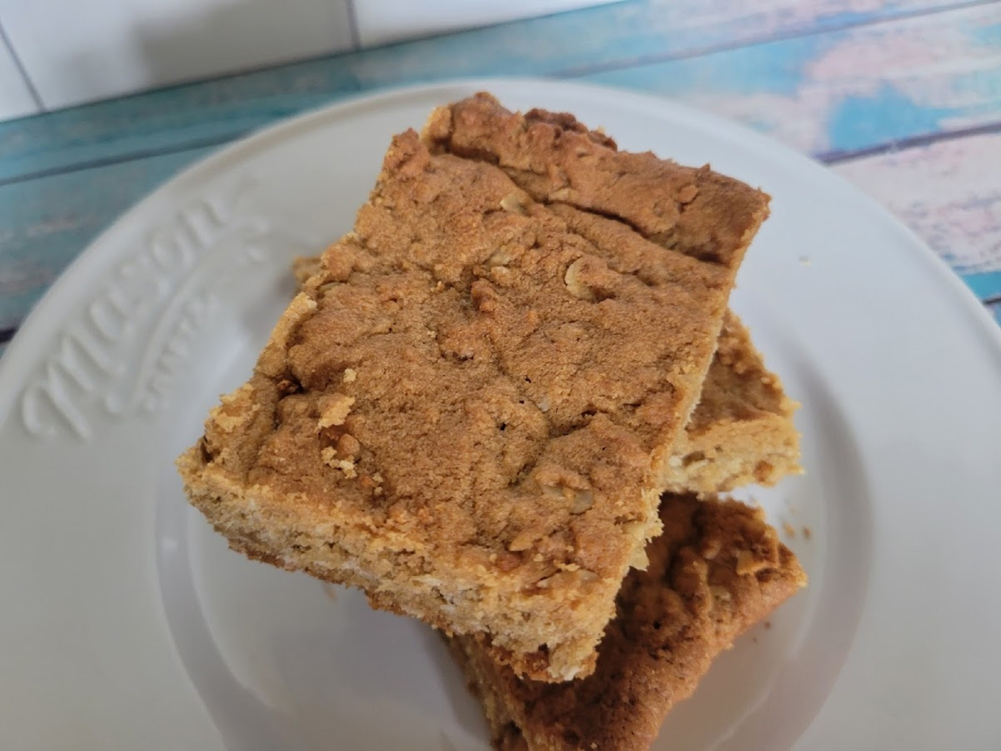 Retro School Cafeteria Peanut Butter Bars Rebekah Rose Hills