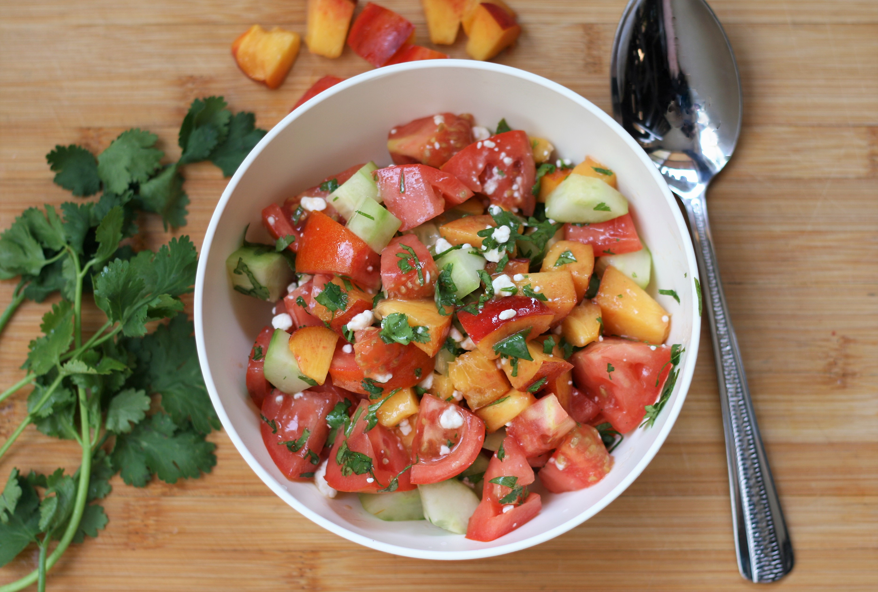 Summer Nectarine, Tomato, and Cucumber Salad
