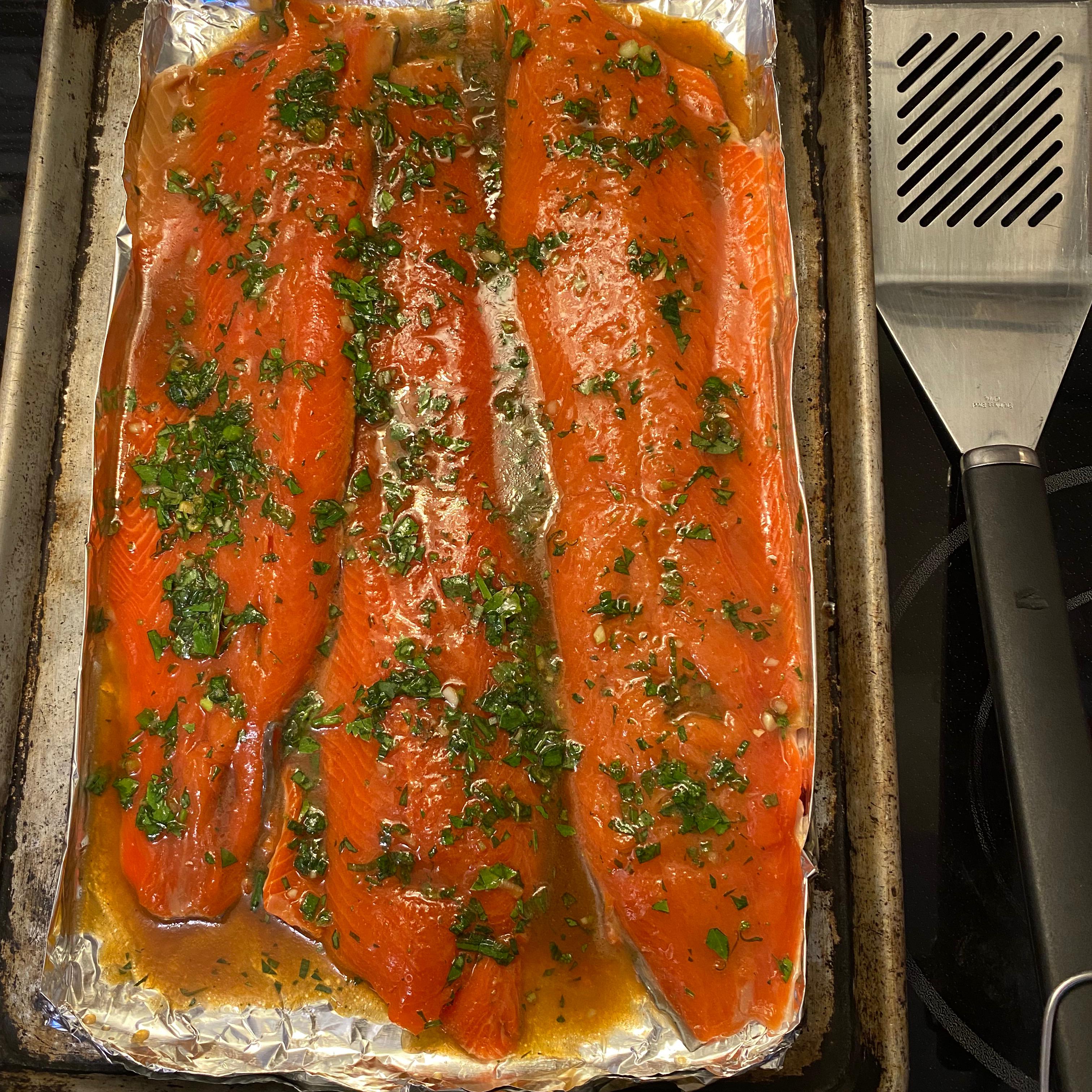 Anne's Fabulous Grilled Salmon Oscar Kelley