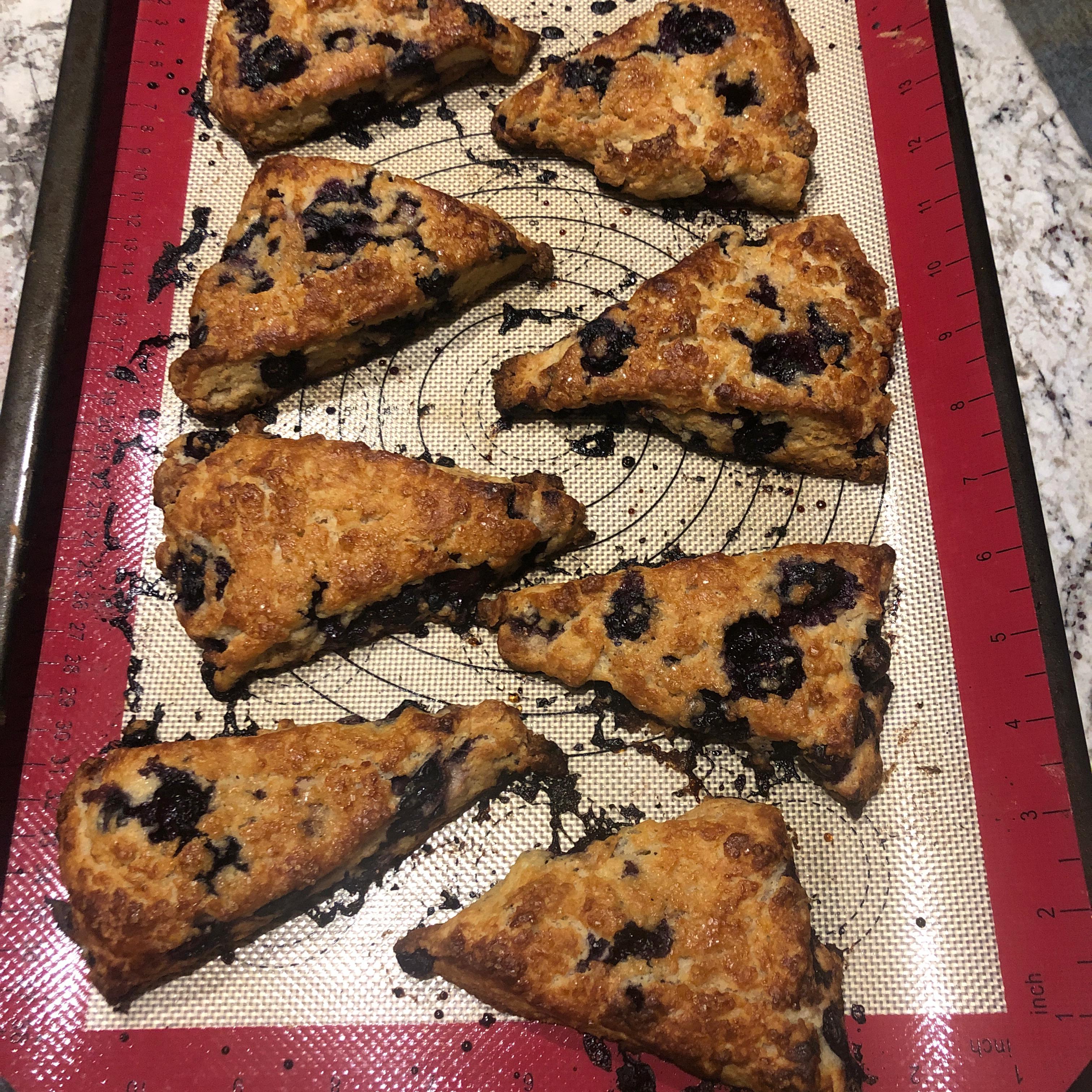 Whole-Grain Blueberry Scones Katie Kate Capo