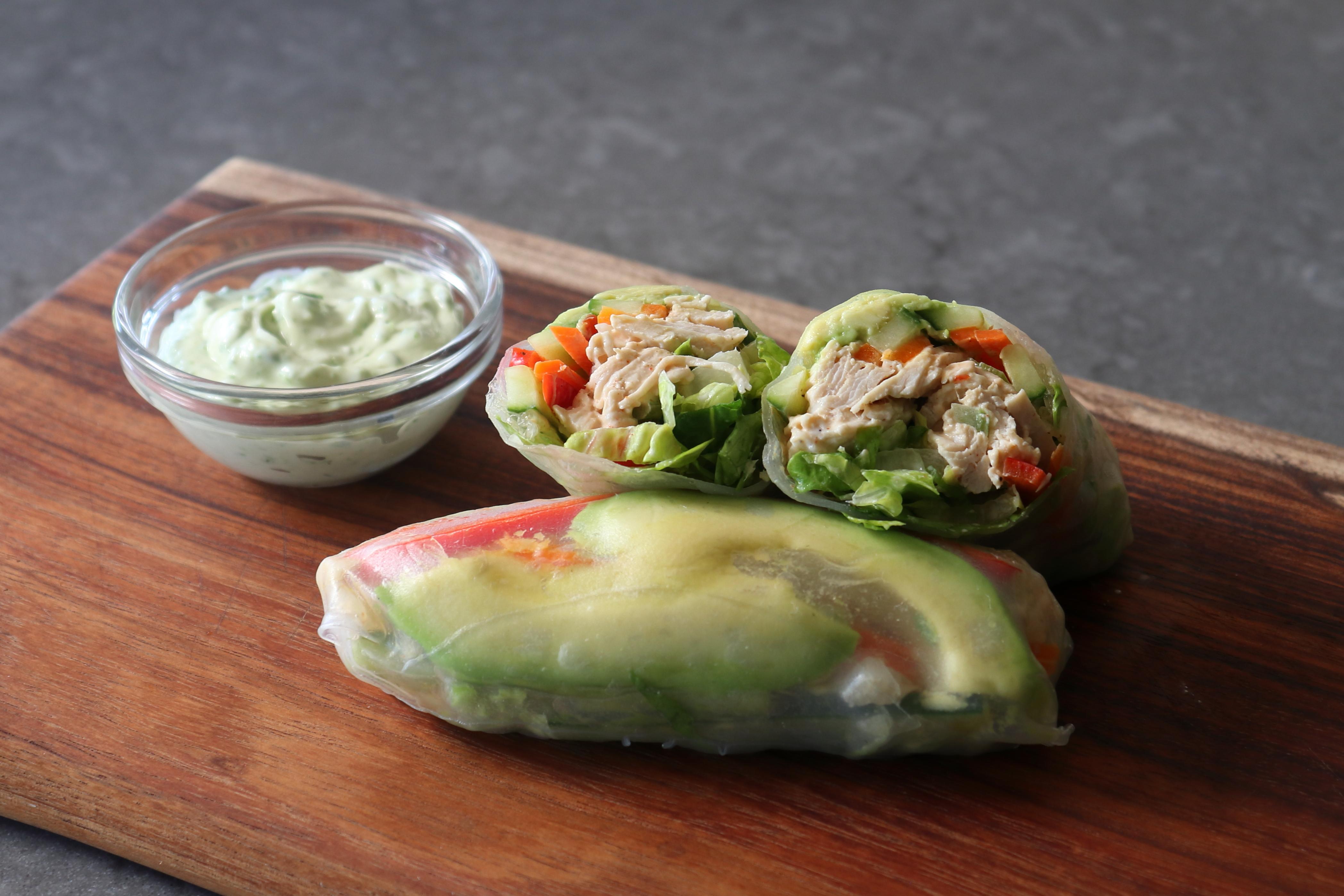Chicken Salad Summer Rolls