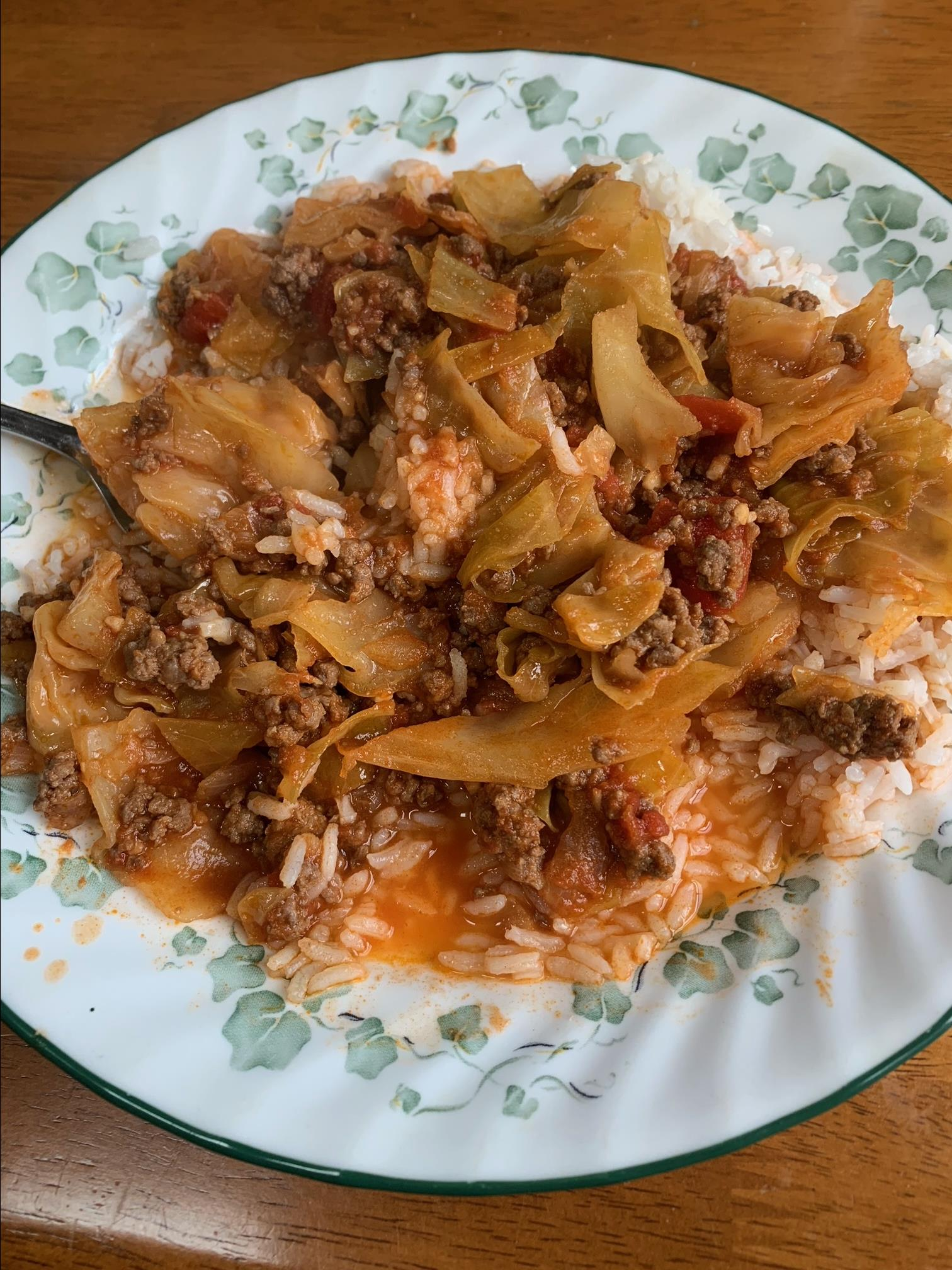 Grandma Elaine's Unstuffed Sweet and Sour Cabbage