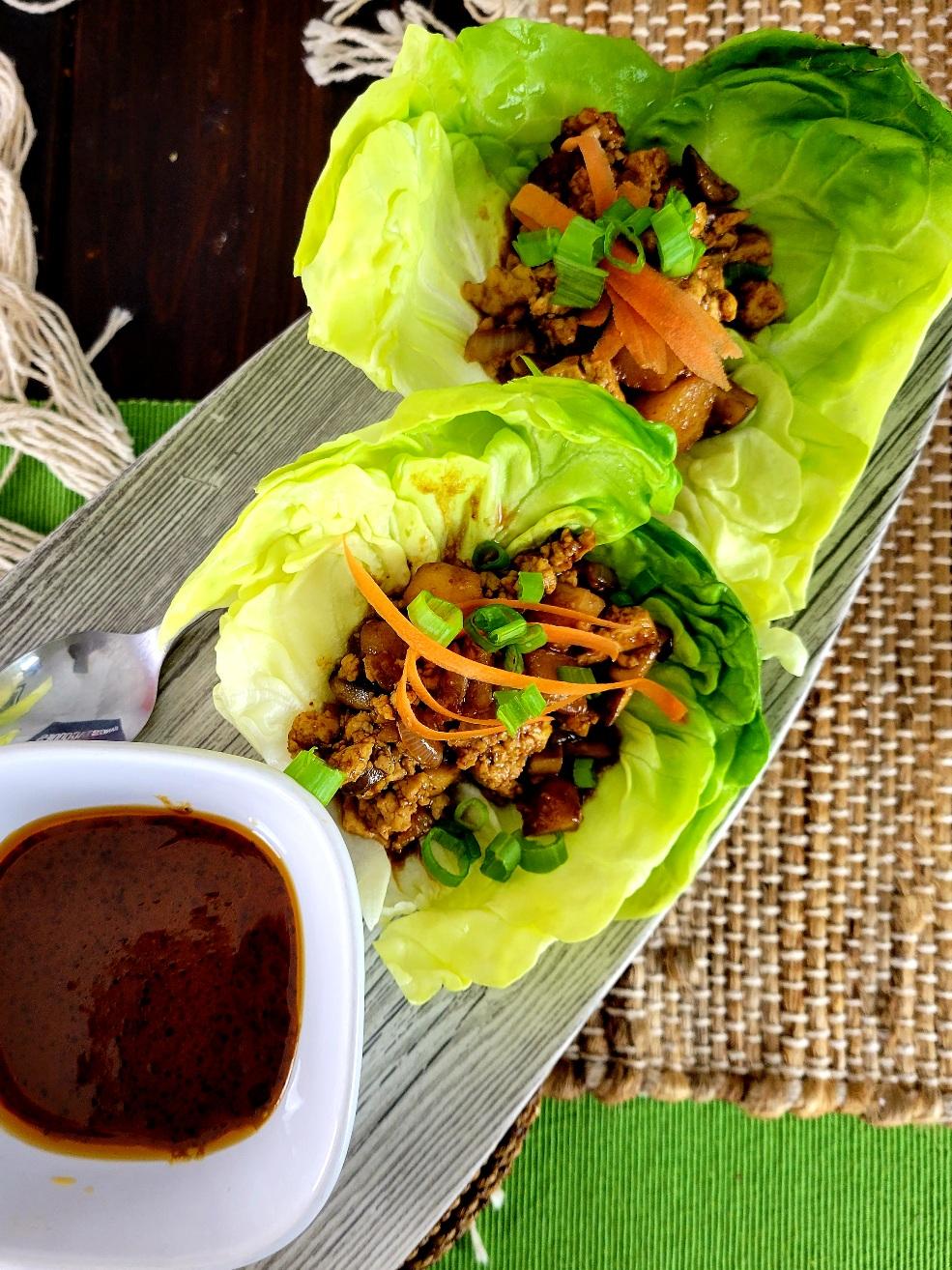 Vegan Lettuce Wraps with Tofu