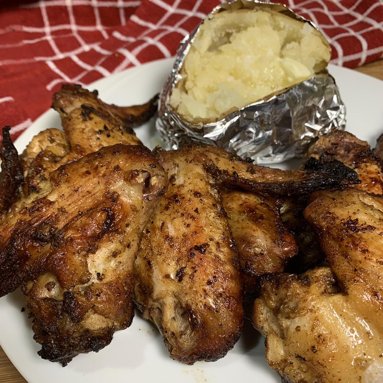 Jerk Grilled Chicken Wings Paula