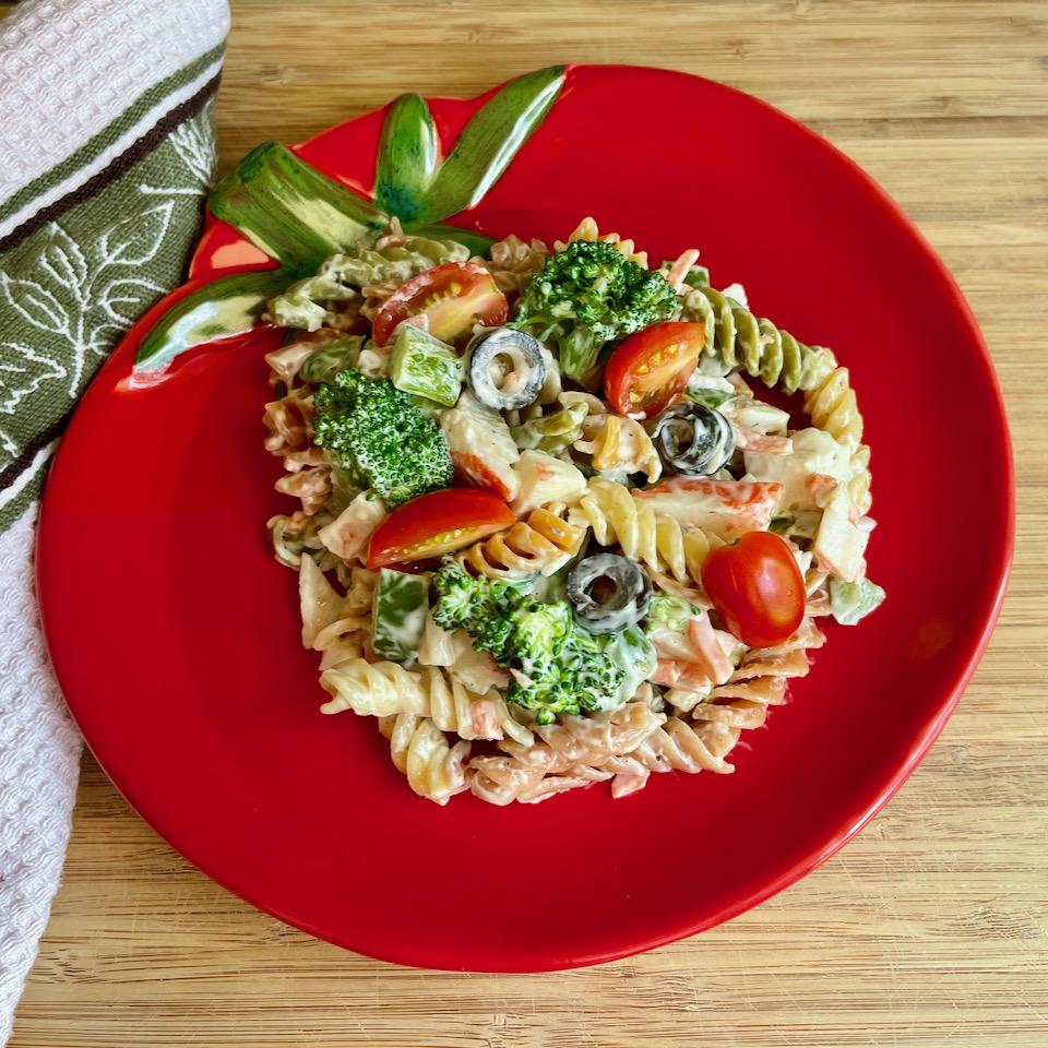 Pasta Salad with Crab