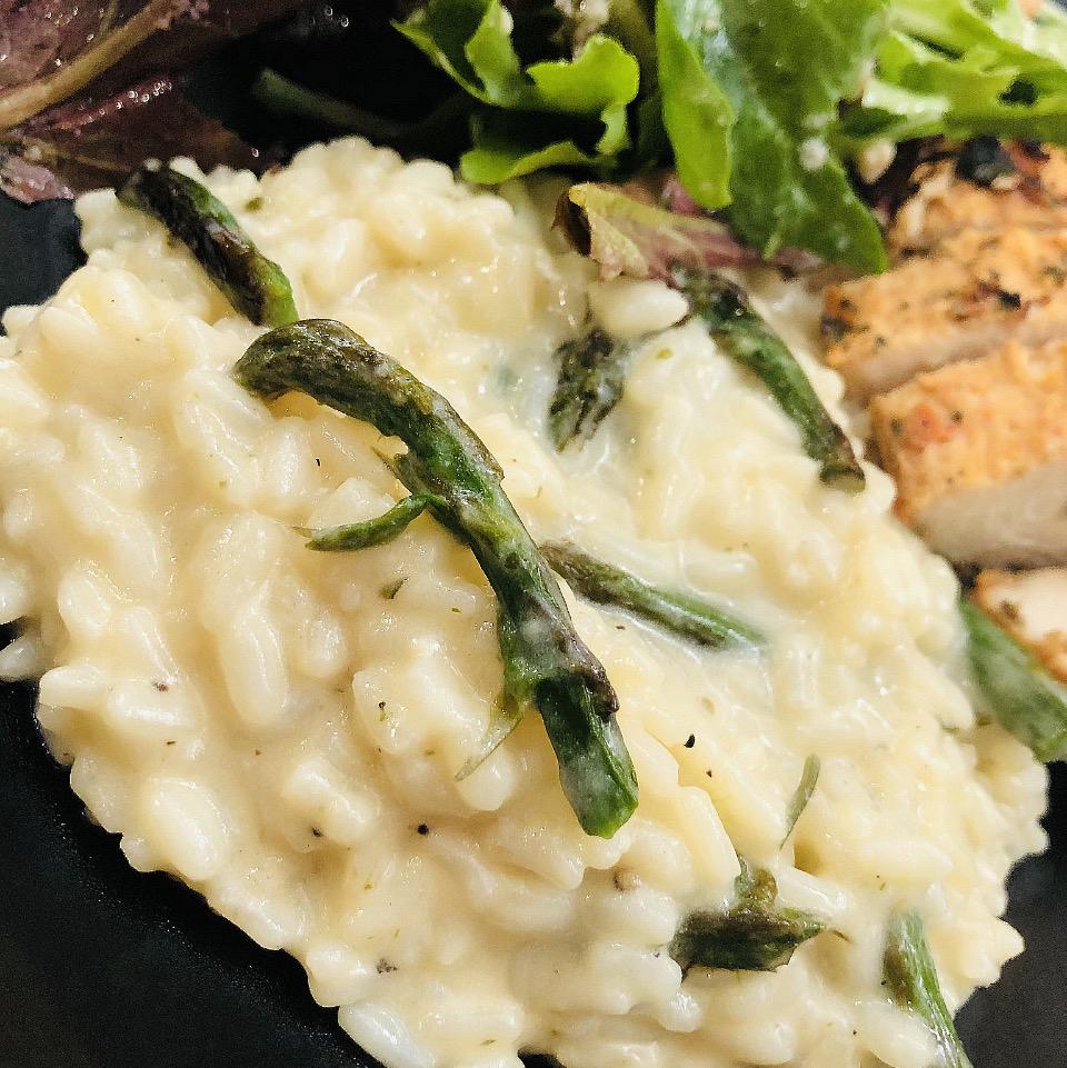 Low-Carb Asparagus Cauli Risotto