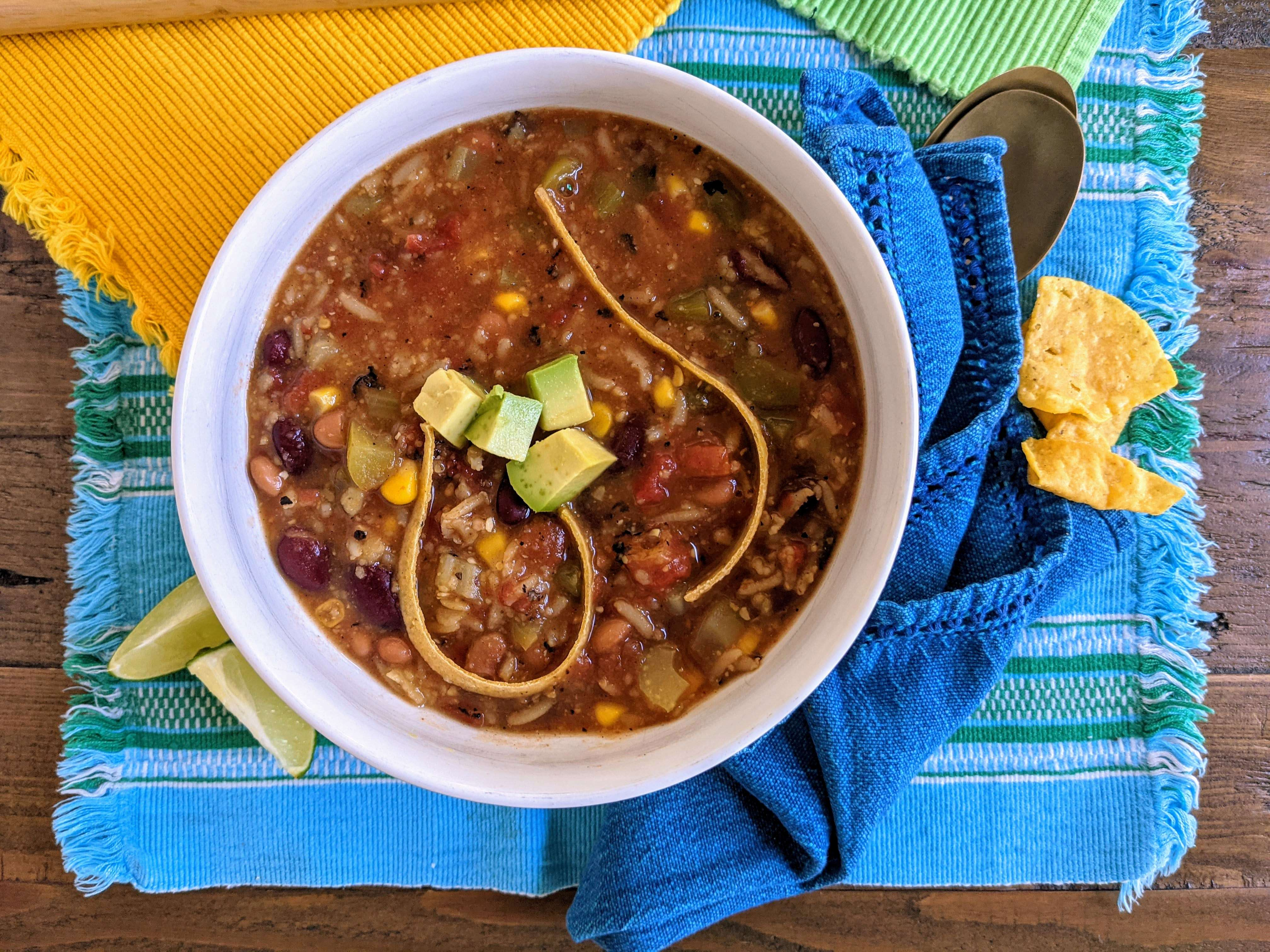 Incredibly Hearty Vegan Tortilla Soup