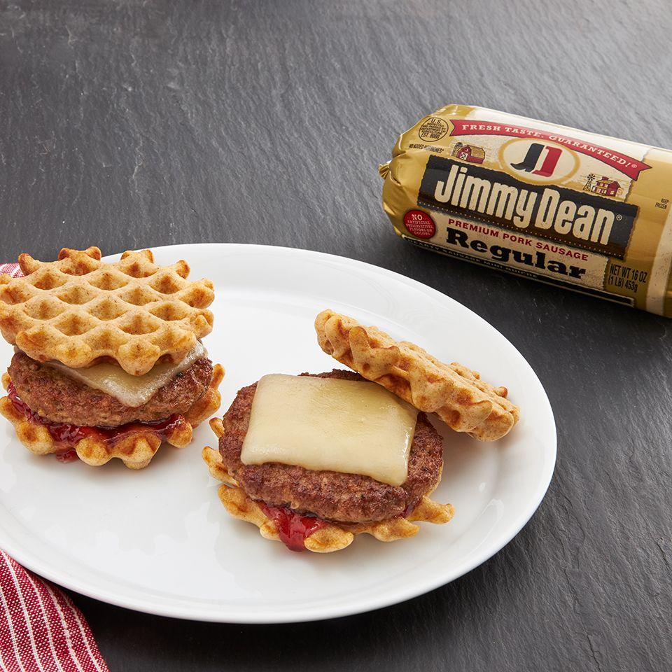 Mini Sausage and Waffle Bites