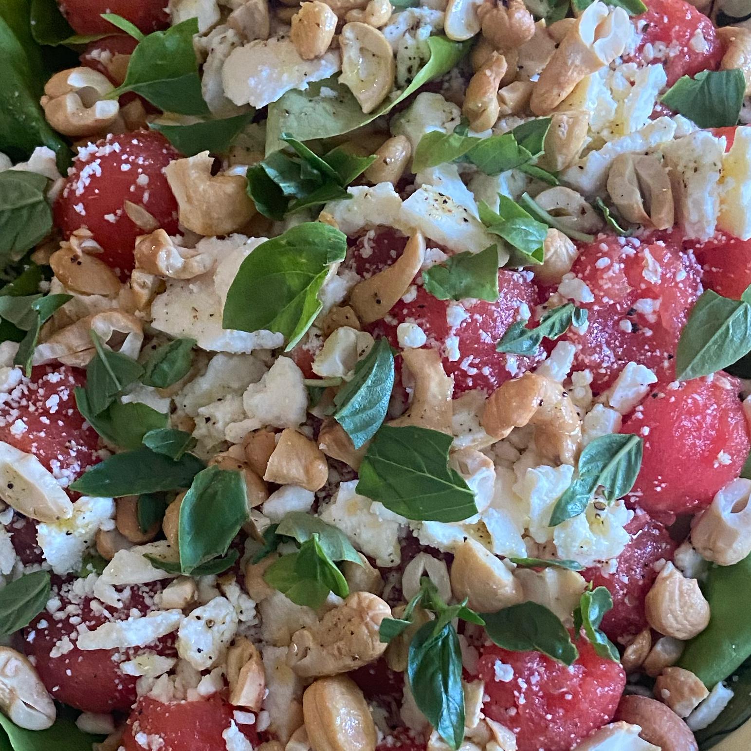 Watermelon, Feta and Cashew Salad Janice