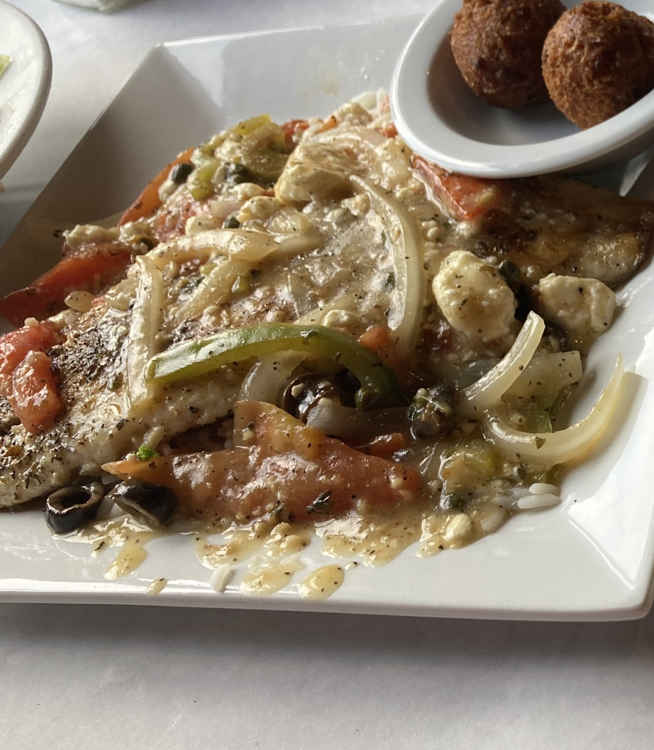 Red Snapper with Athenian Sauce