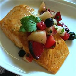 Curried Salmon with Summer Fruit Chutney MICHELLE0011