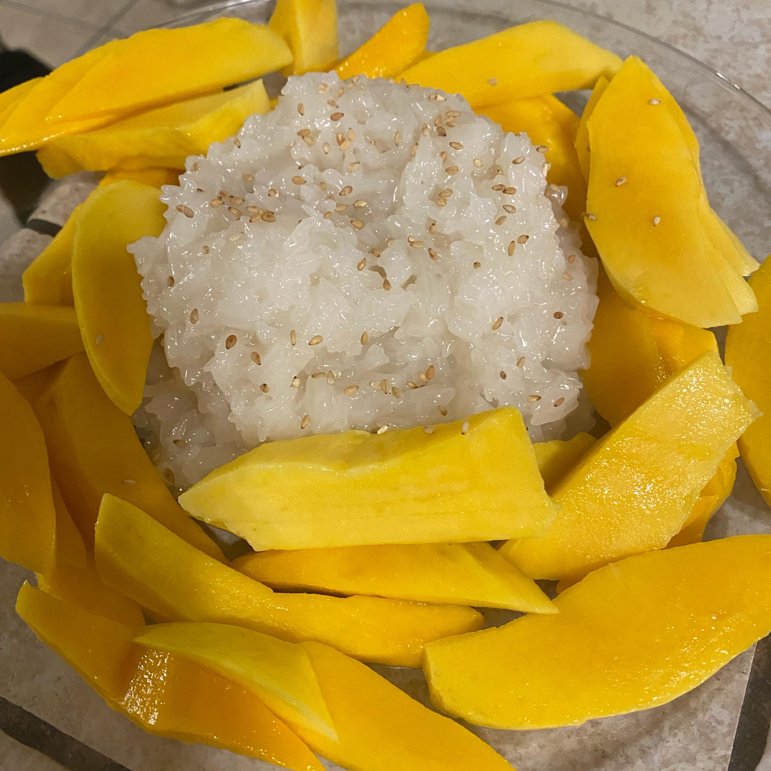 Thai Sweet Sticky Rice With Mango (Khao Neeo Mamuang) Karen Schaller Hickey
