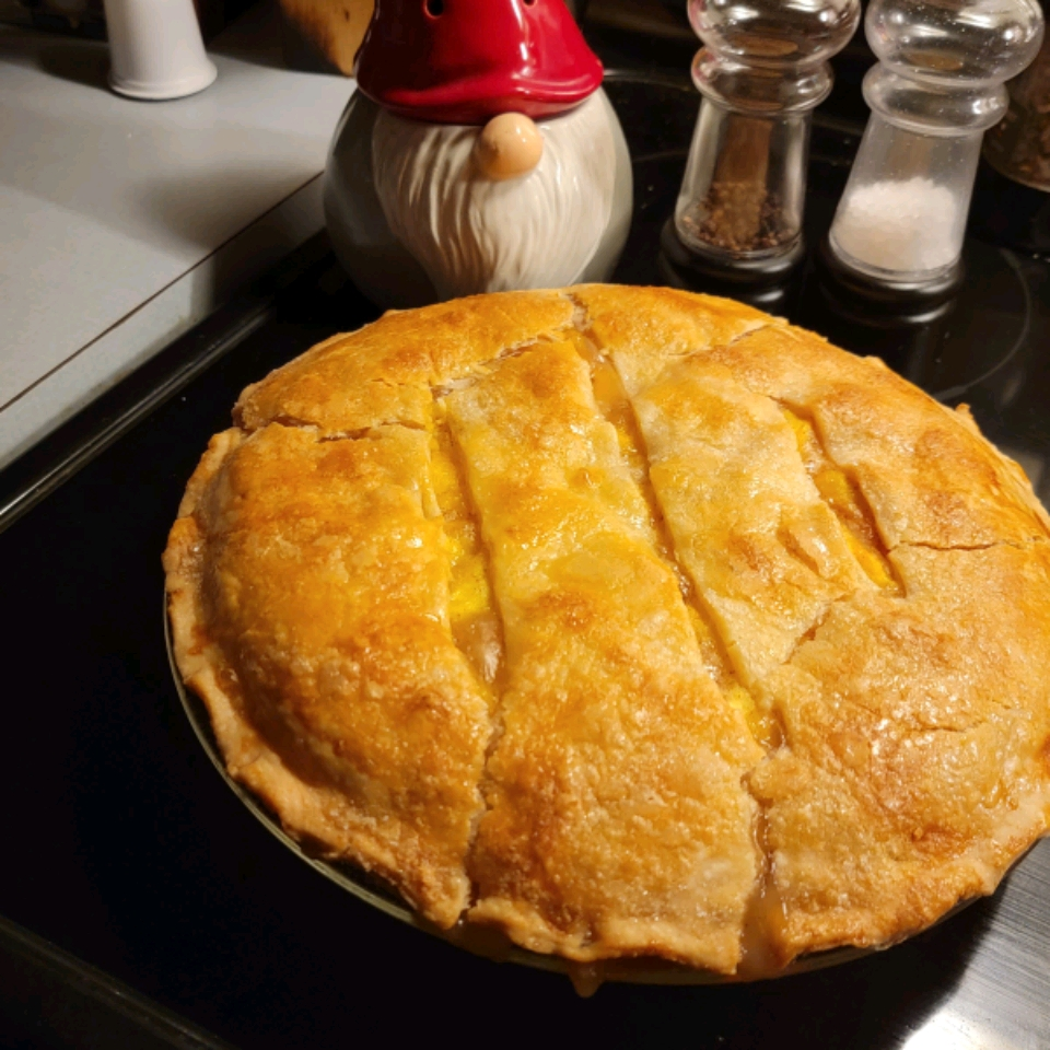 Peach Pie the Old Fashioned Two Crust Way