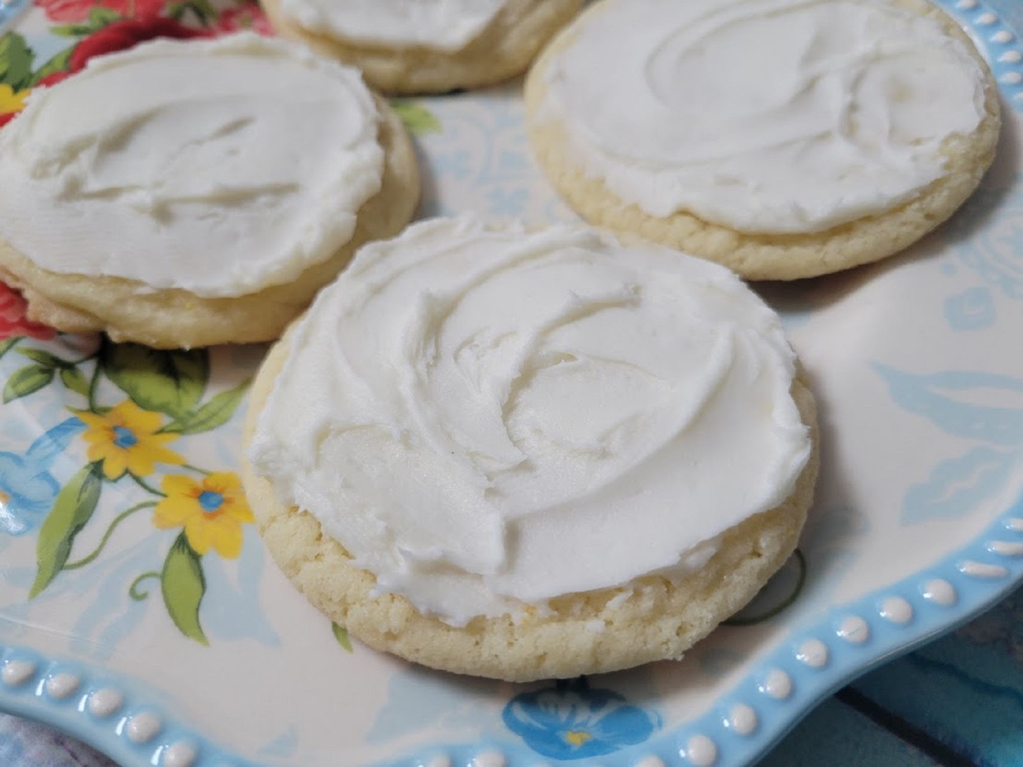 Buttercream-Frosted Lemon Sugar Cookies