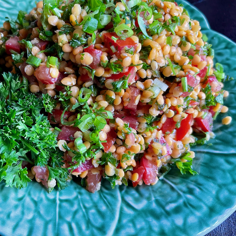 Red Lentil Salad with Fresh Herbs