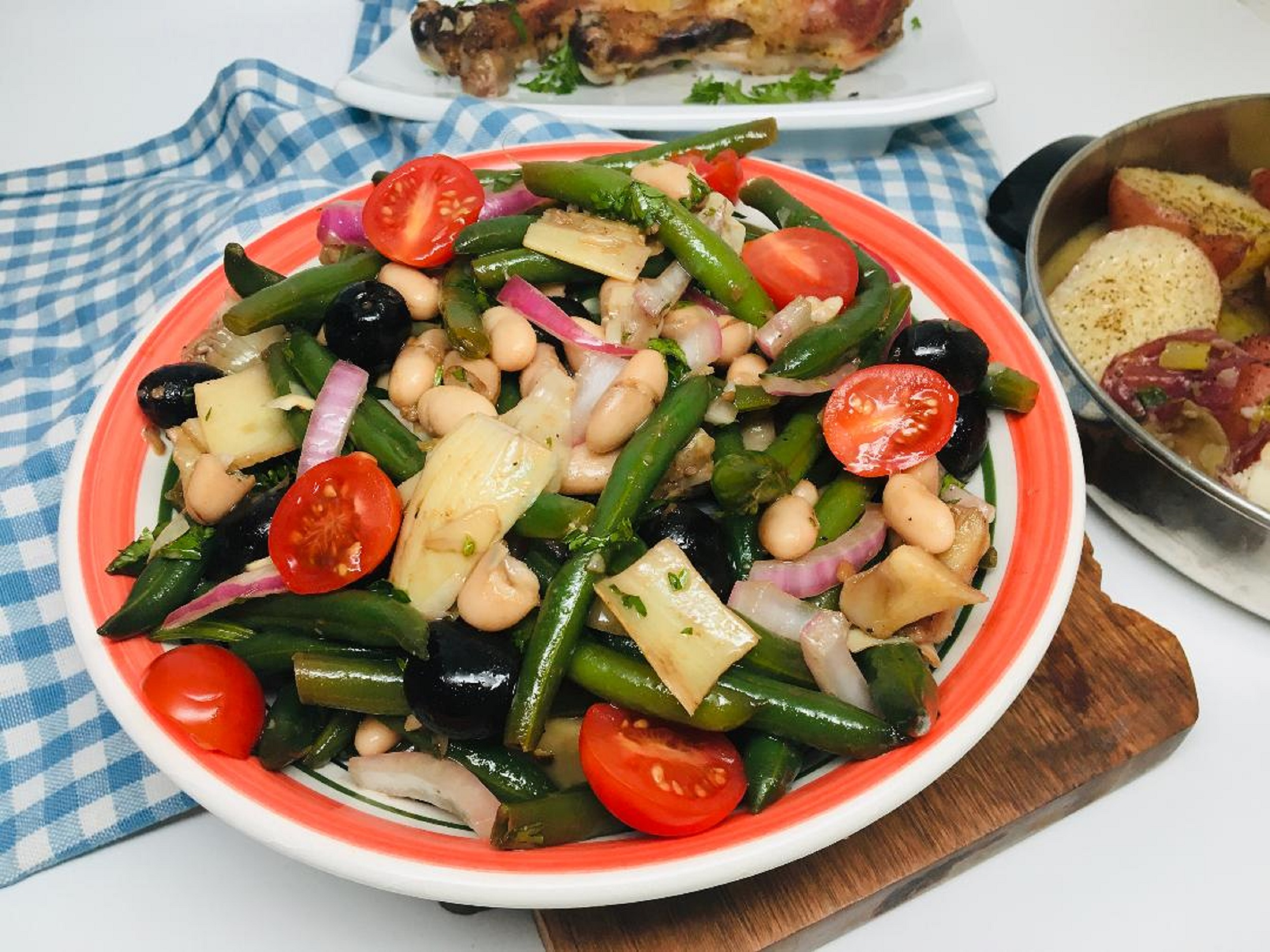 Cold Green Bean and Artichoke Salad