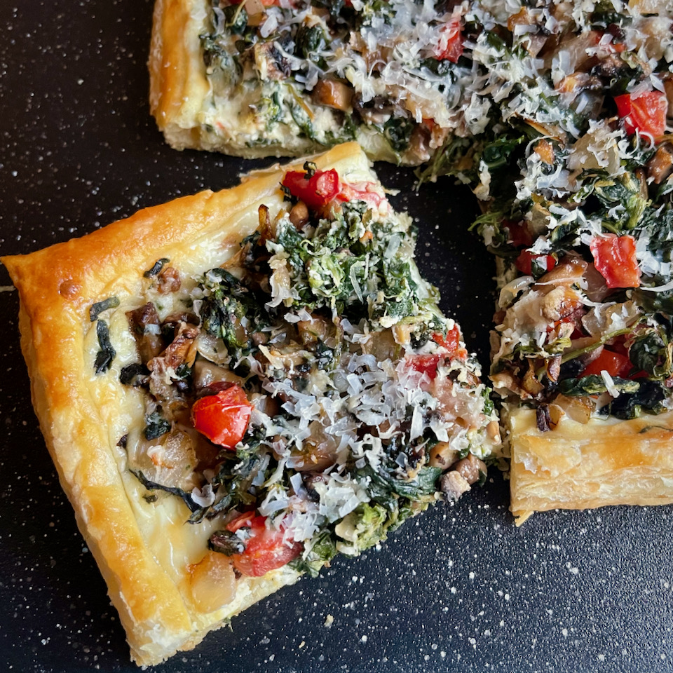 Puff Pastry Tart with Vegetables and Cheese