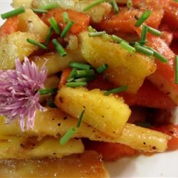 Glazed Carrots and Parsnips with Chives