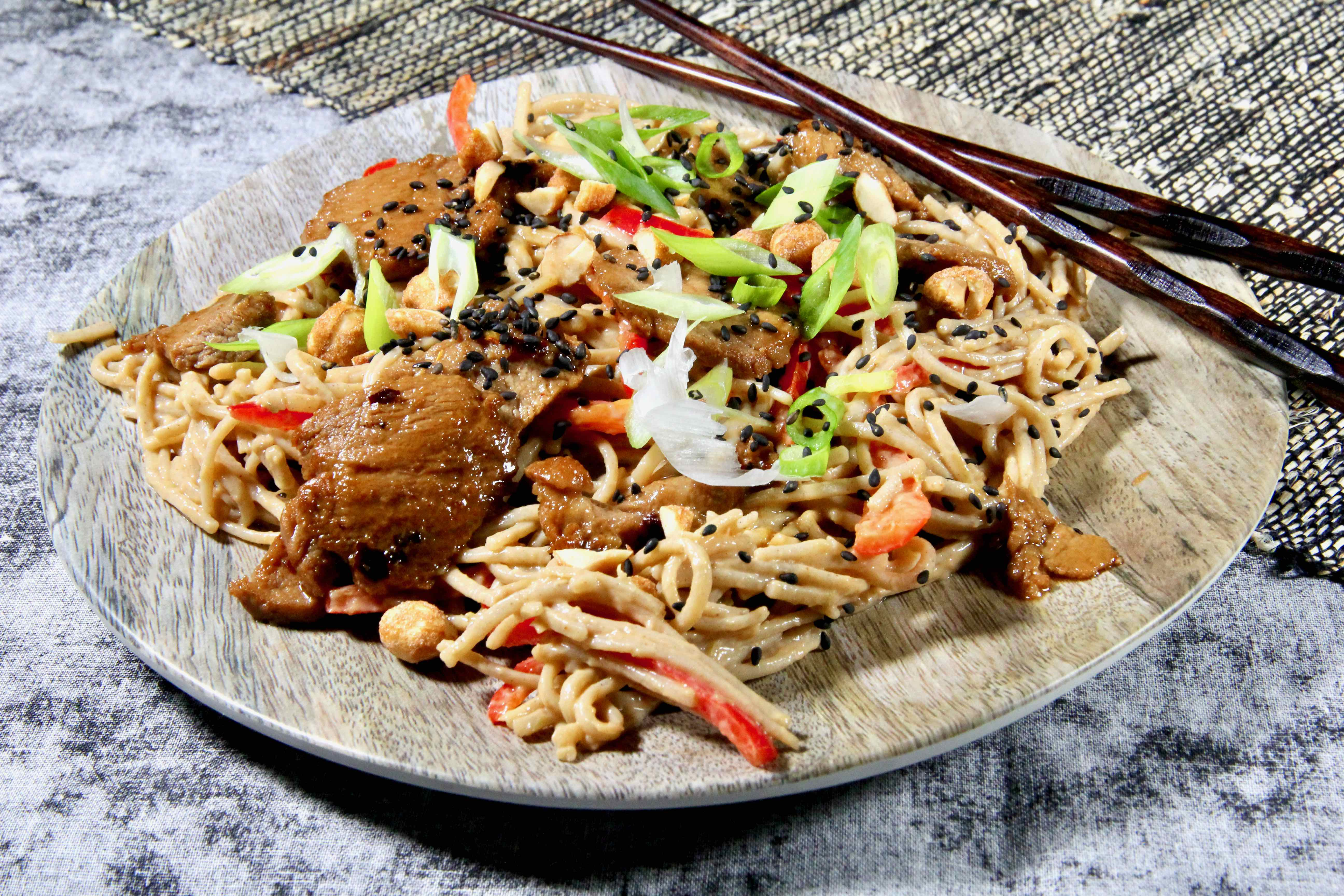 Cold Soba Noodles with Pork Tenderloin
