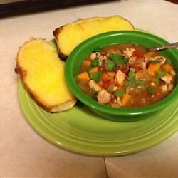 Sweet and Spicy Soup with Black-Eyed Peas and Sweet Potato