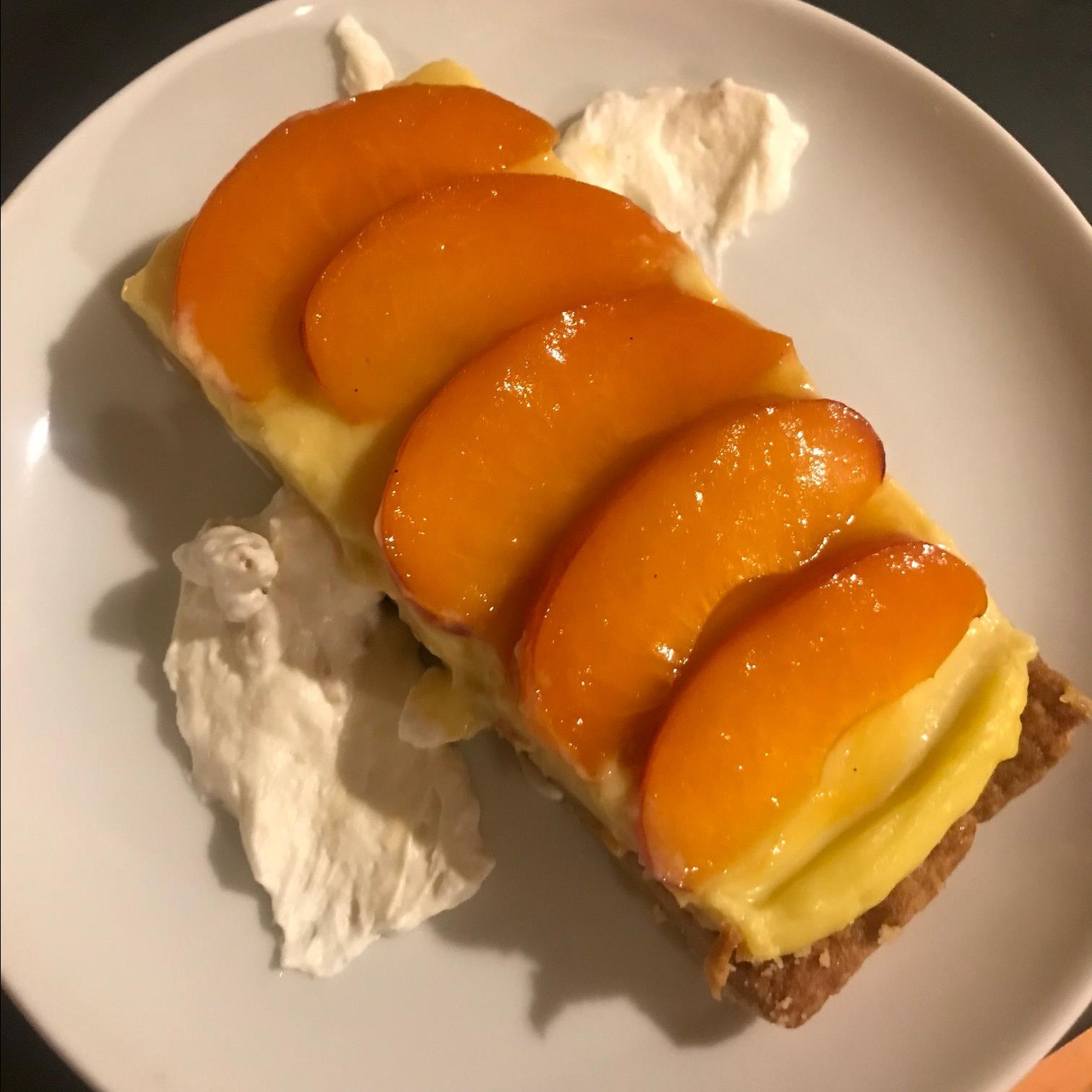 Tieton Apricot Tart with Basil Custard cheesemite