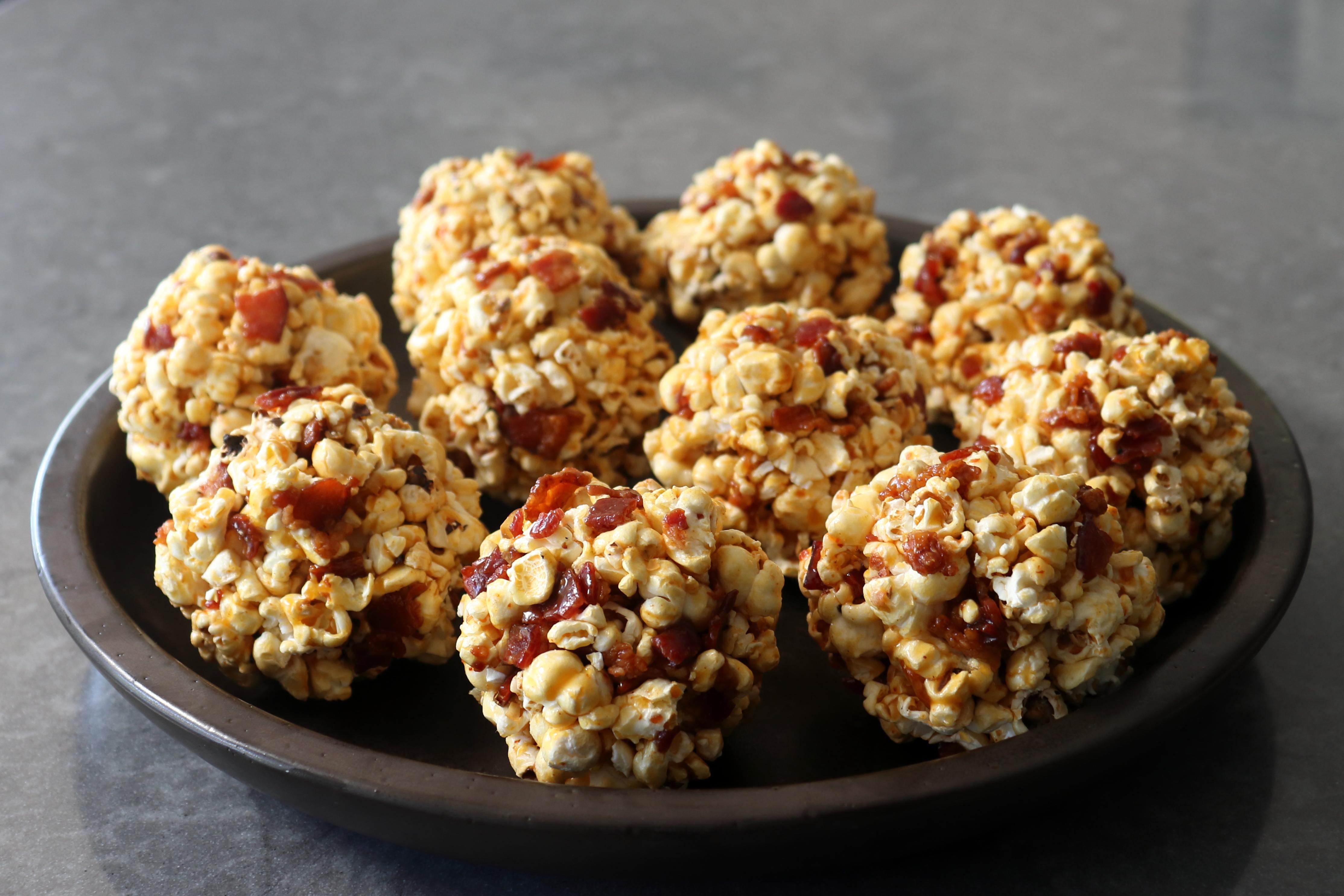 Bacon-Caramel Popcorn Balls