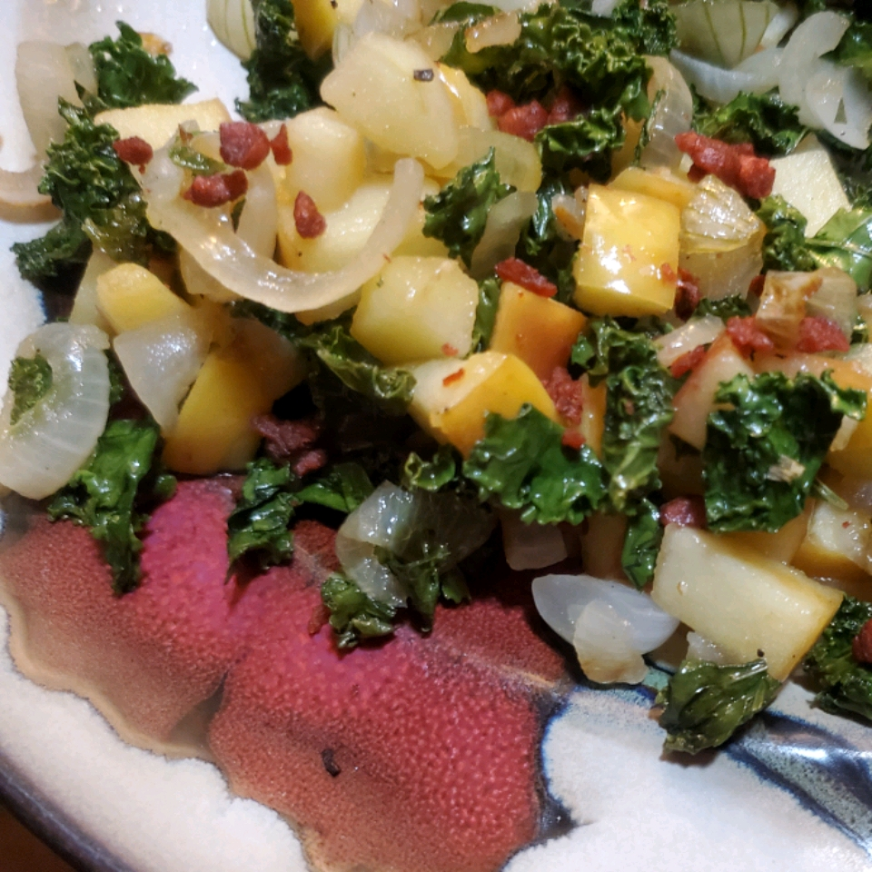 Sauteed Kale with Apples Colleen Seal