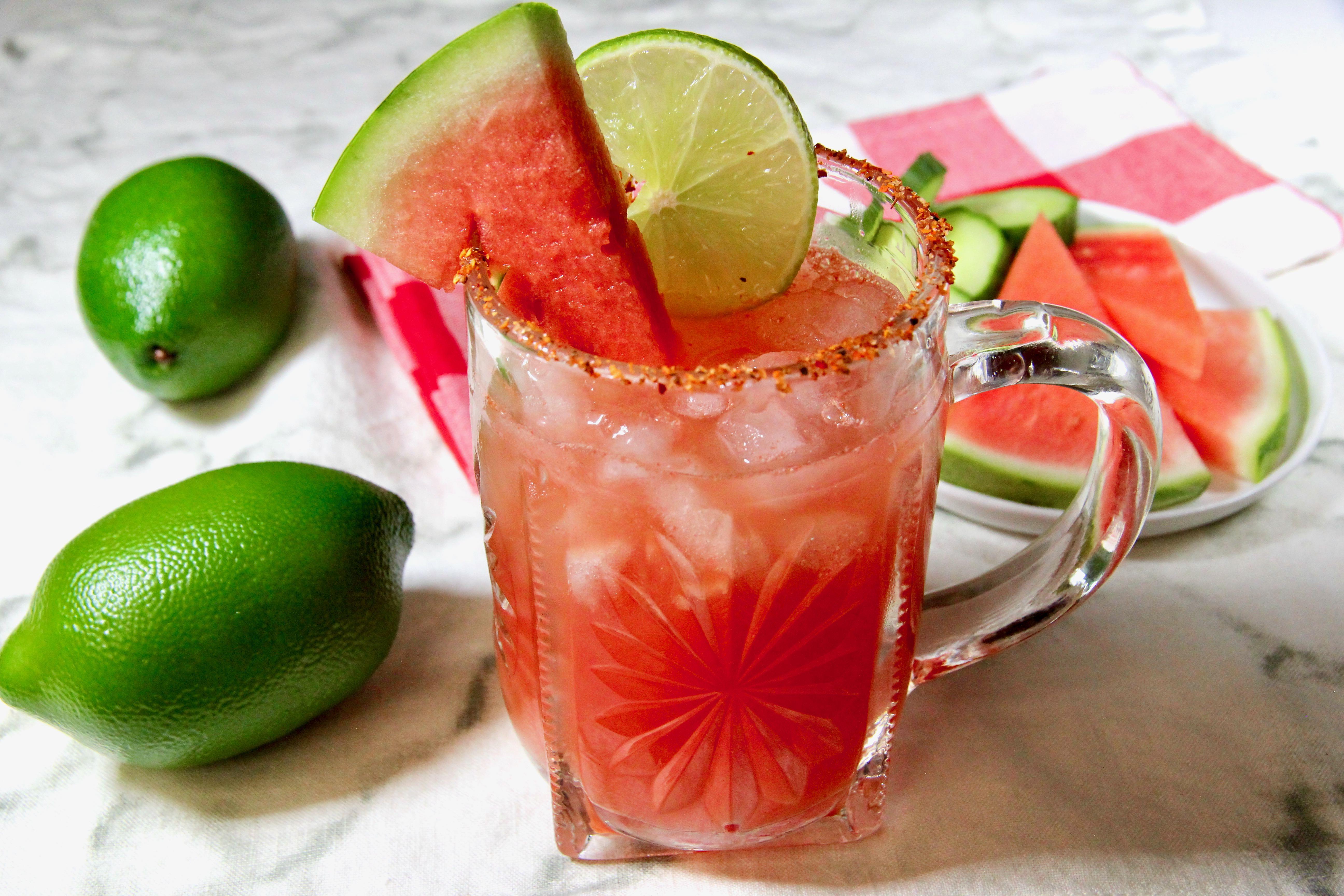 Watermelon-Cucumber Agua Fresca