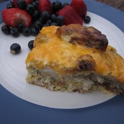 English Muffin Breakfast Strata pomplemousse